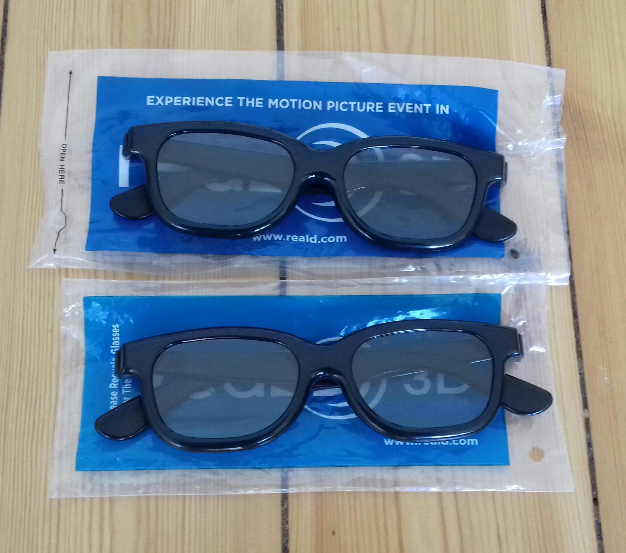 3D Brillen 2 Stück tauschen
