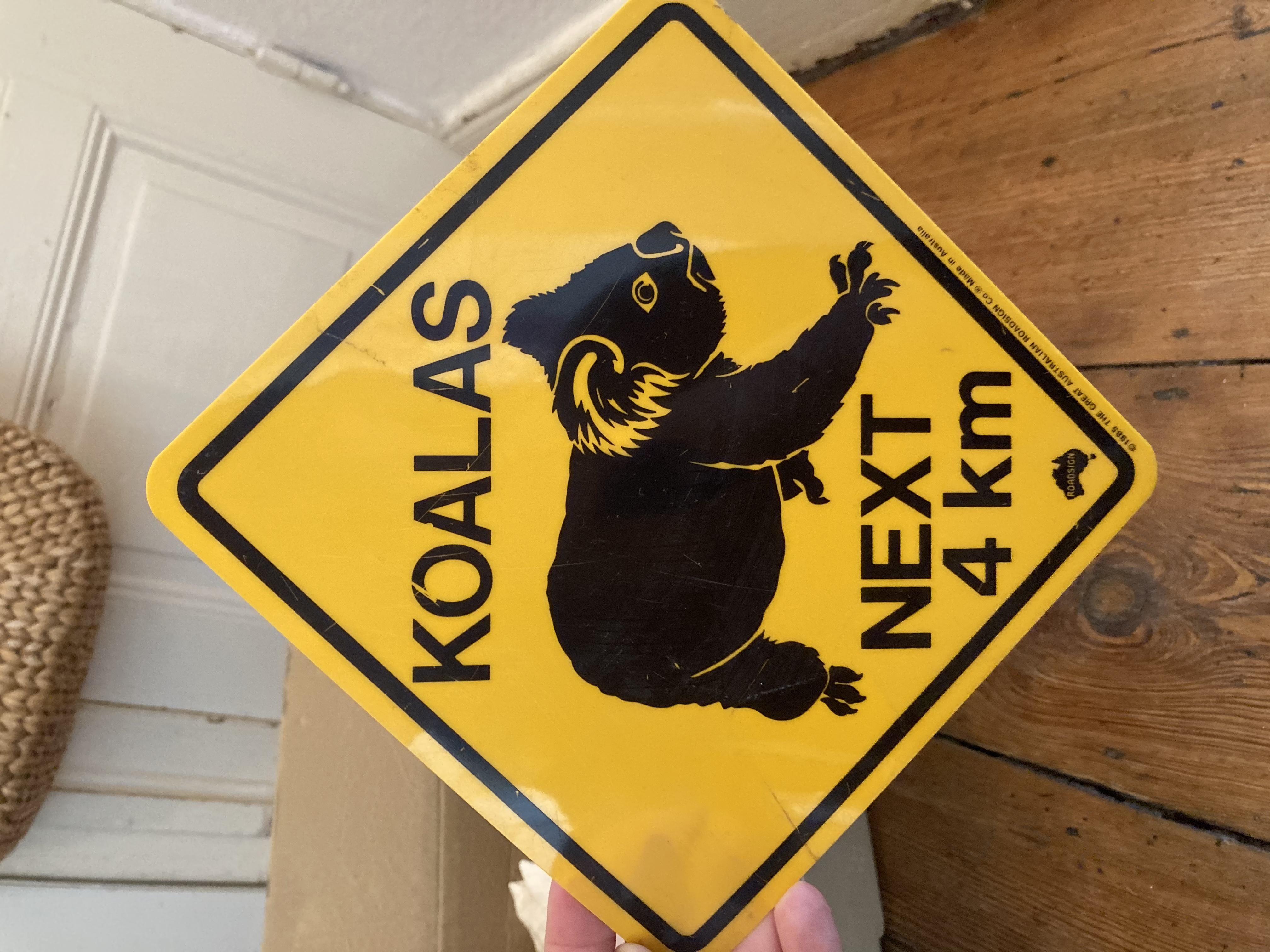 Koala- Schild  tauschen