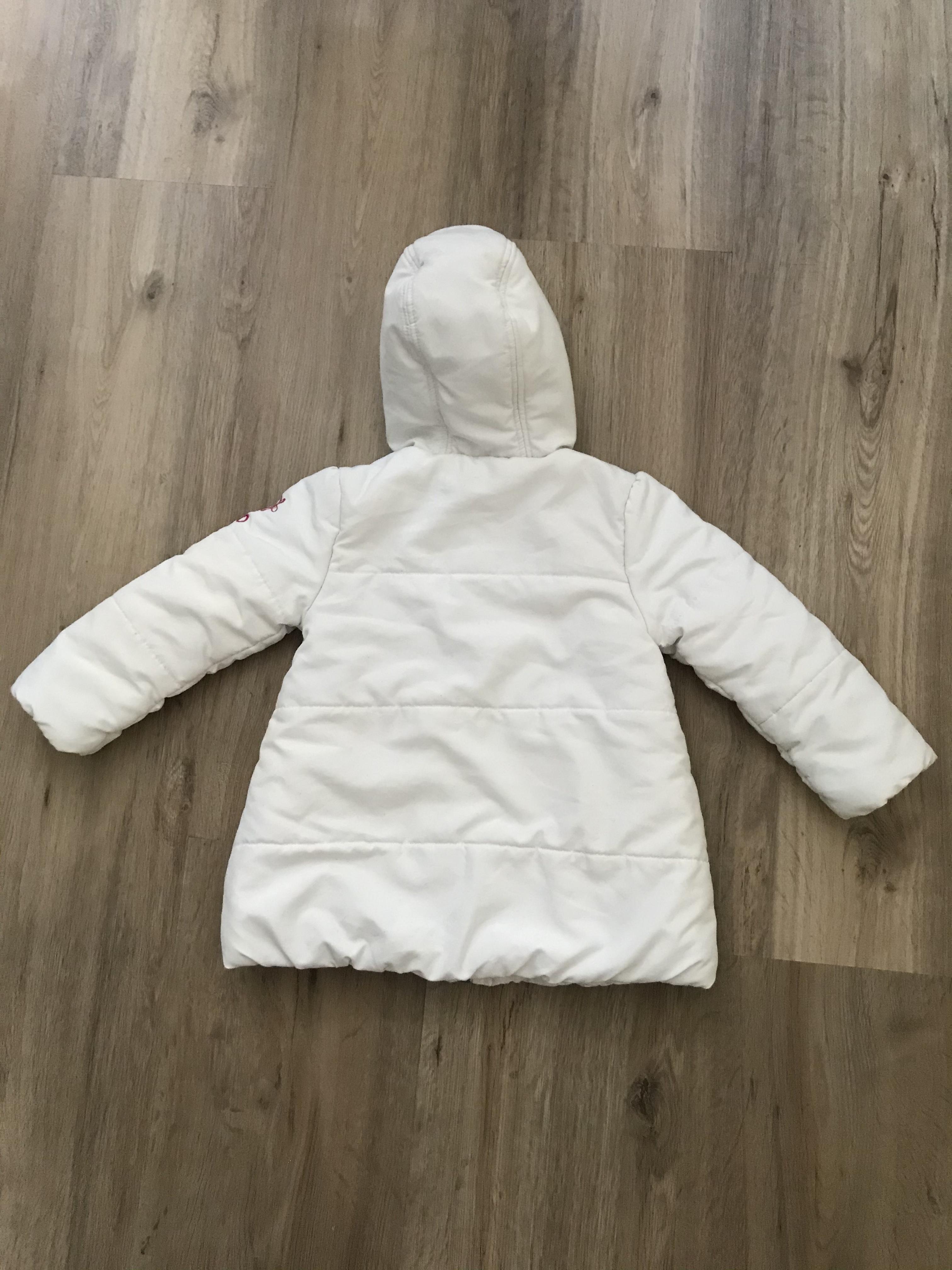Süße weiße Frühjahrsjacke Gr. 92 kostenlos