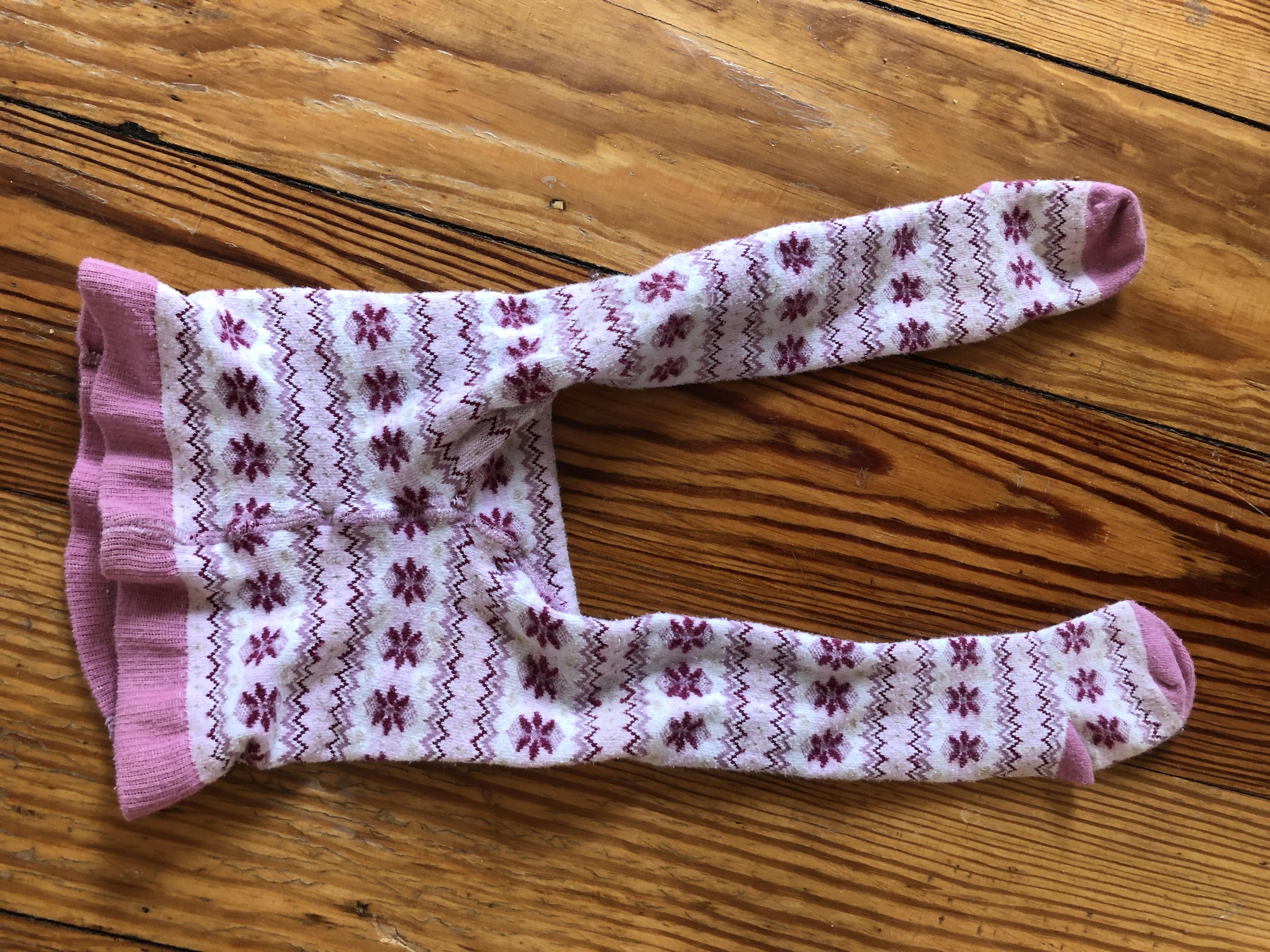 Strumpfhose rosa Blumen 74/80 tauschen