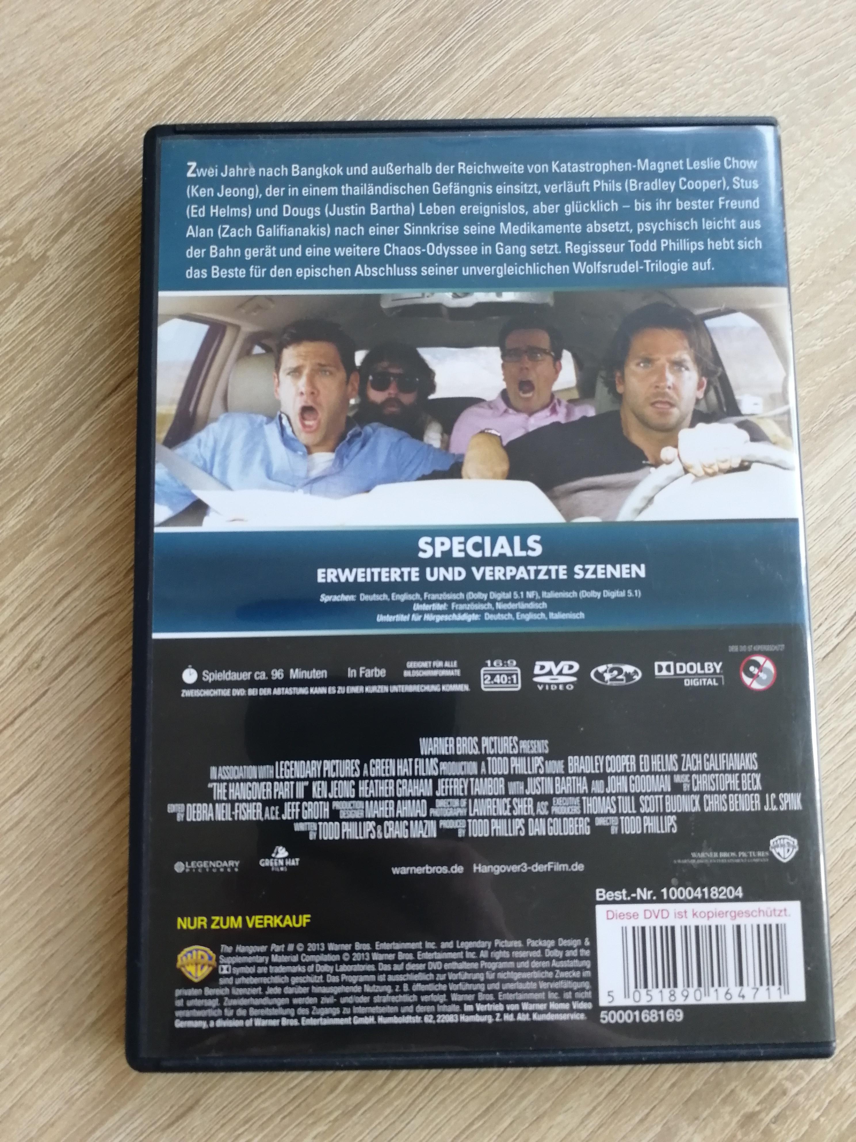 DVD Hangover 3 kostenlos