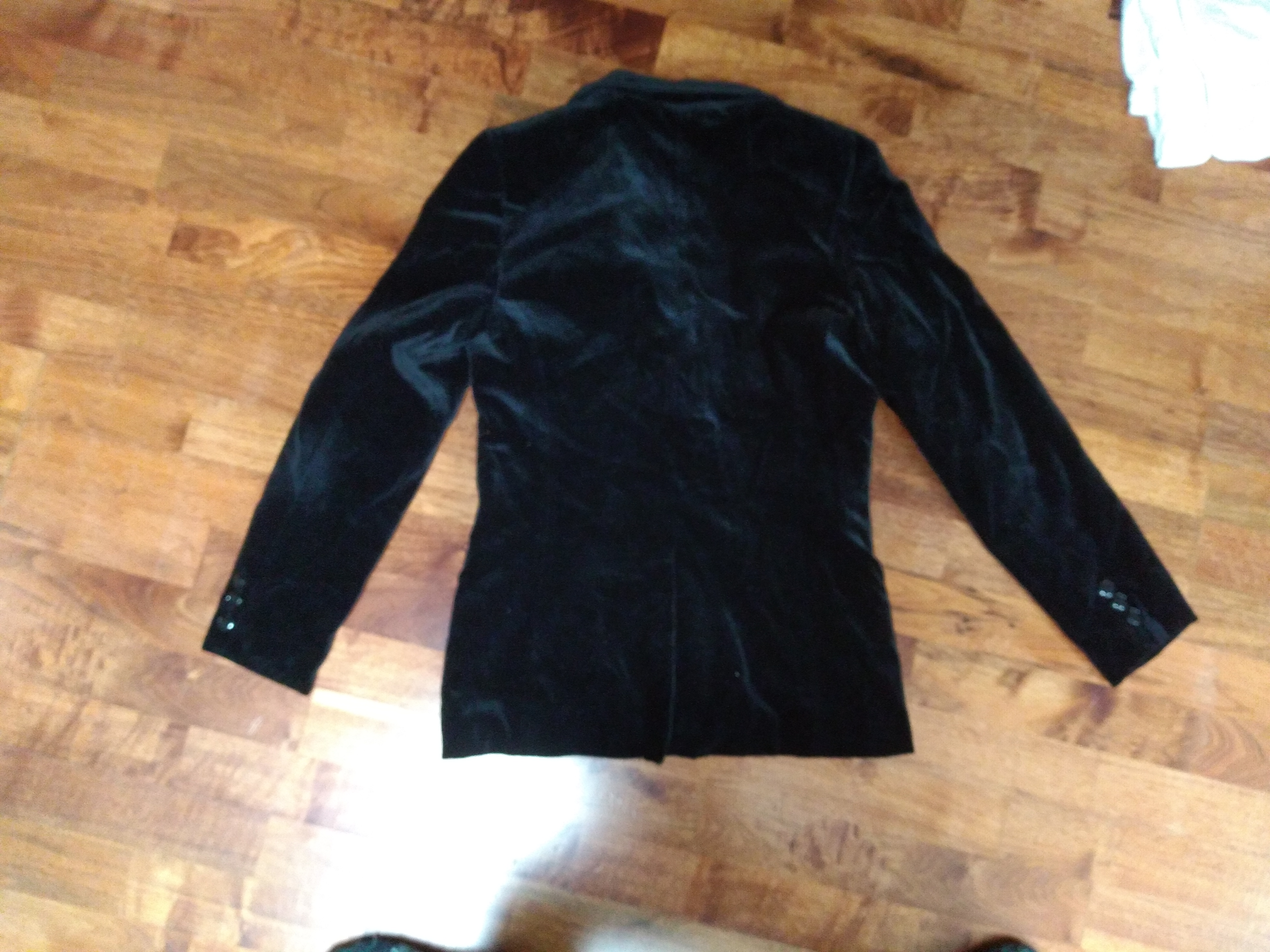 schwarzer Blazer samt Vintage M kostenlos