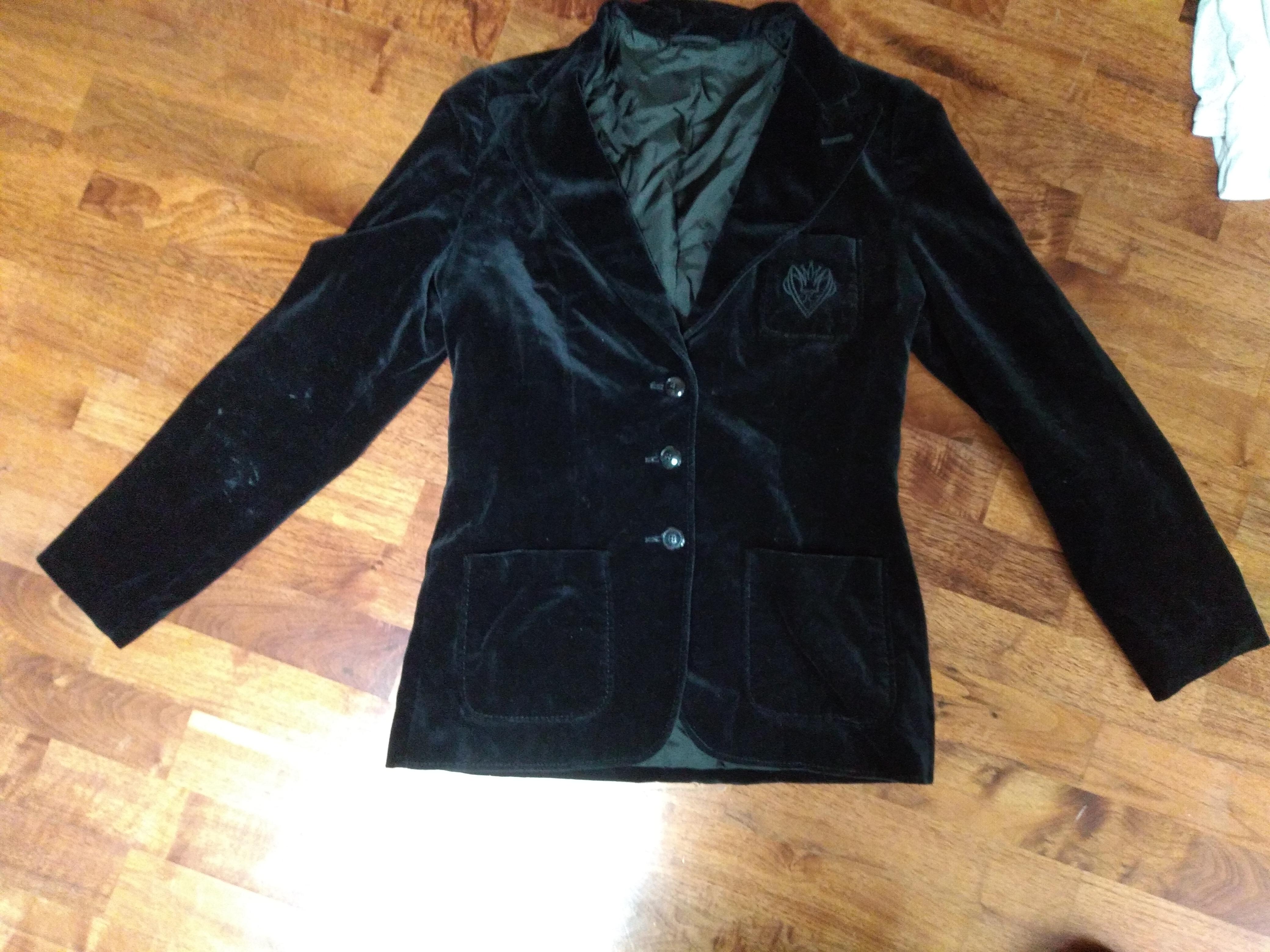 schwarzer Blazer samt Vintage M tauschen