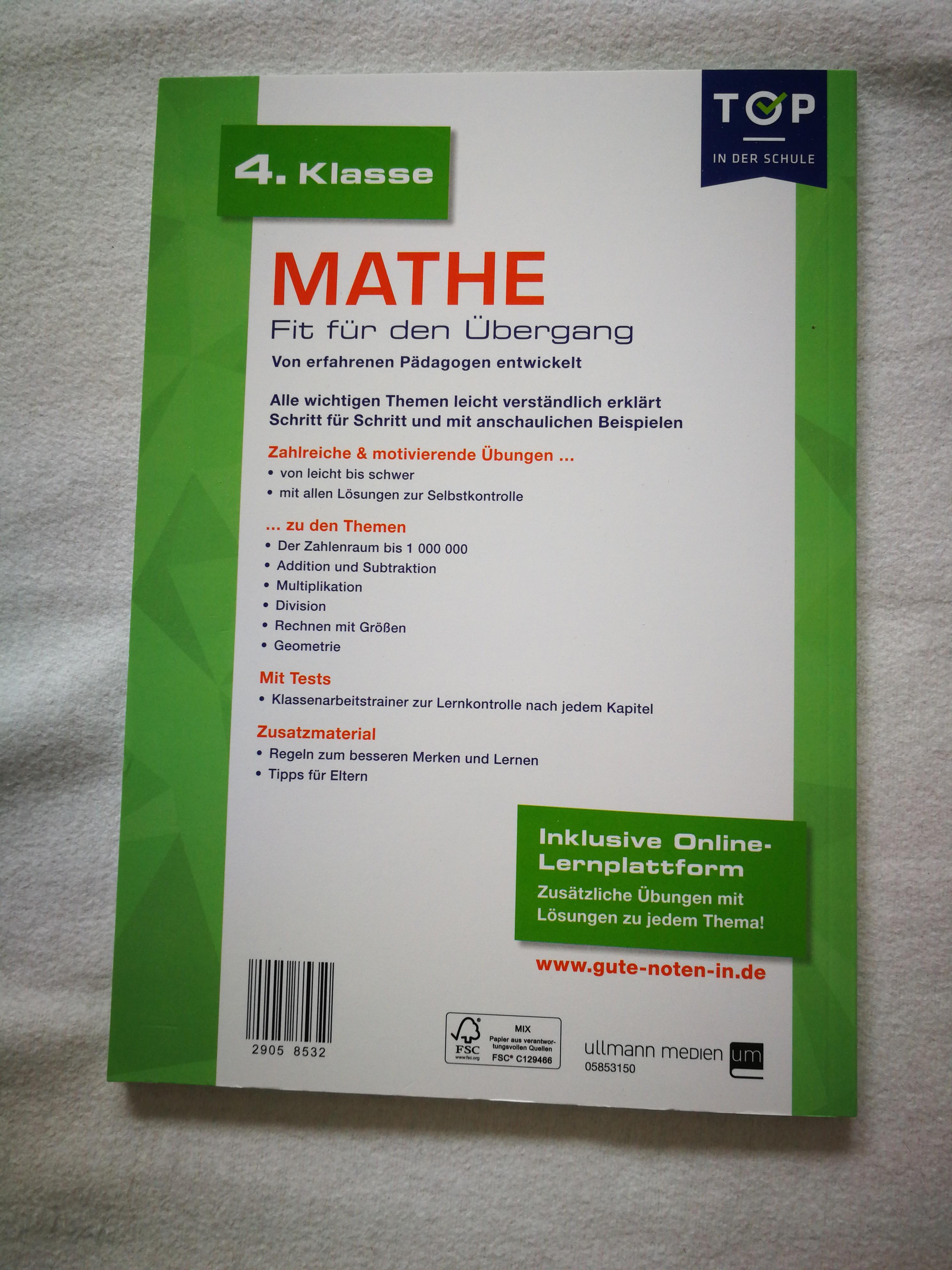 Mathe 4.Klasse NEU kostenlos