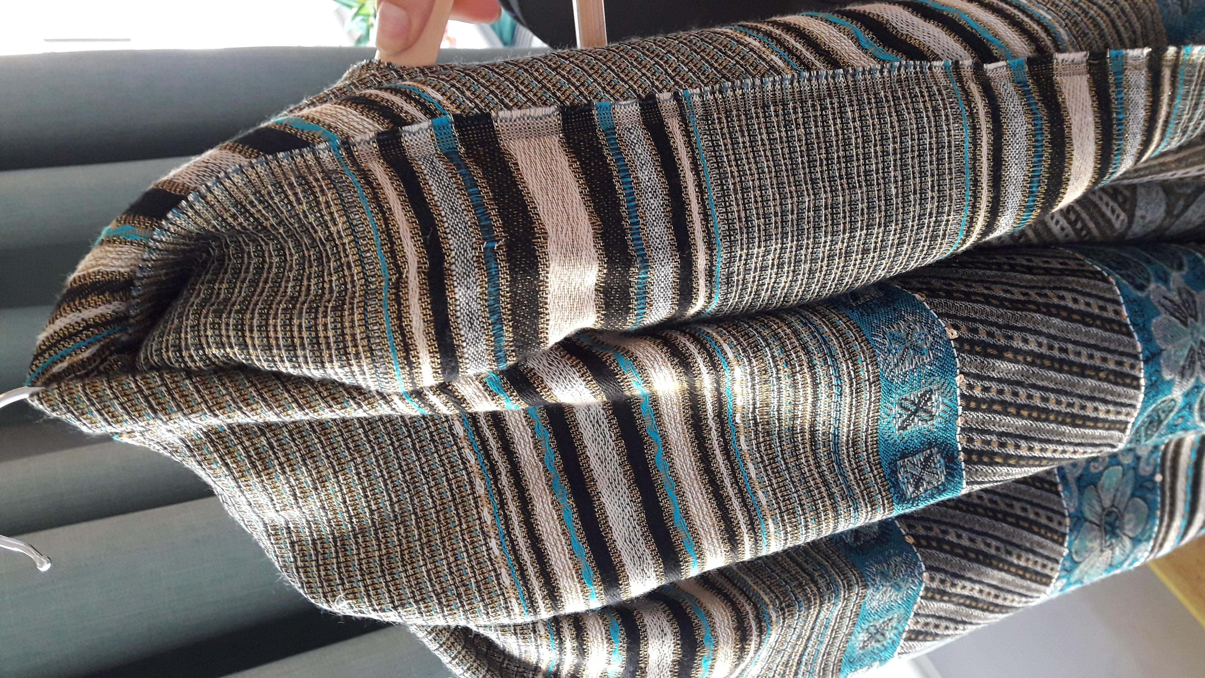 Langer bunter Schal mit glitzer  tauschen