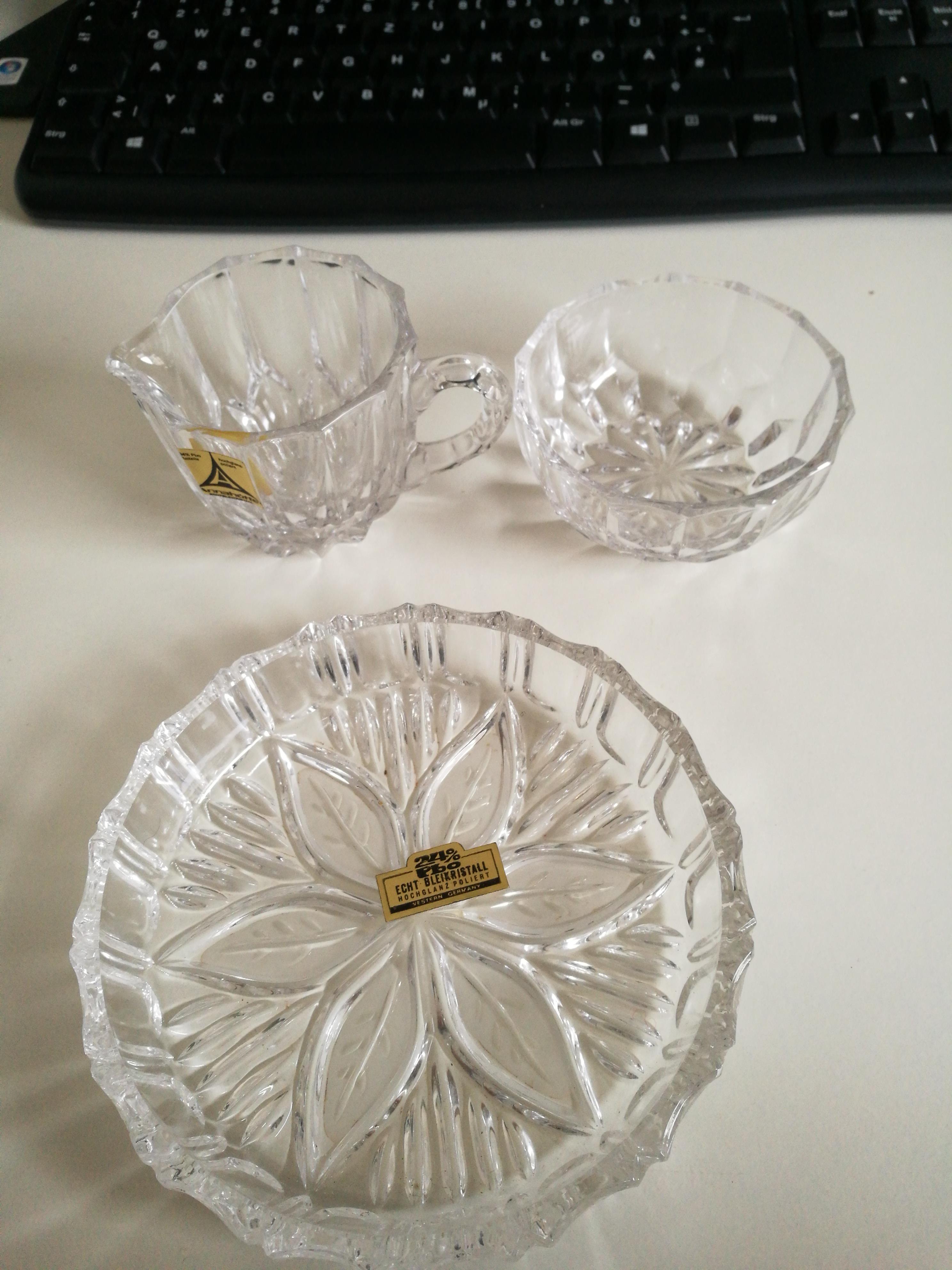 Kristallglas Set tauschen