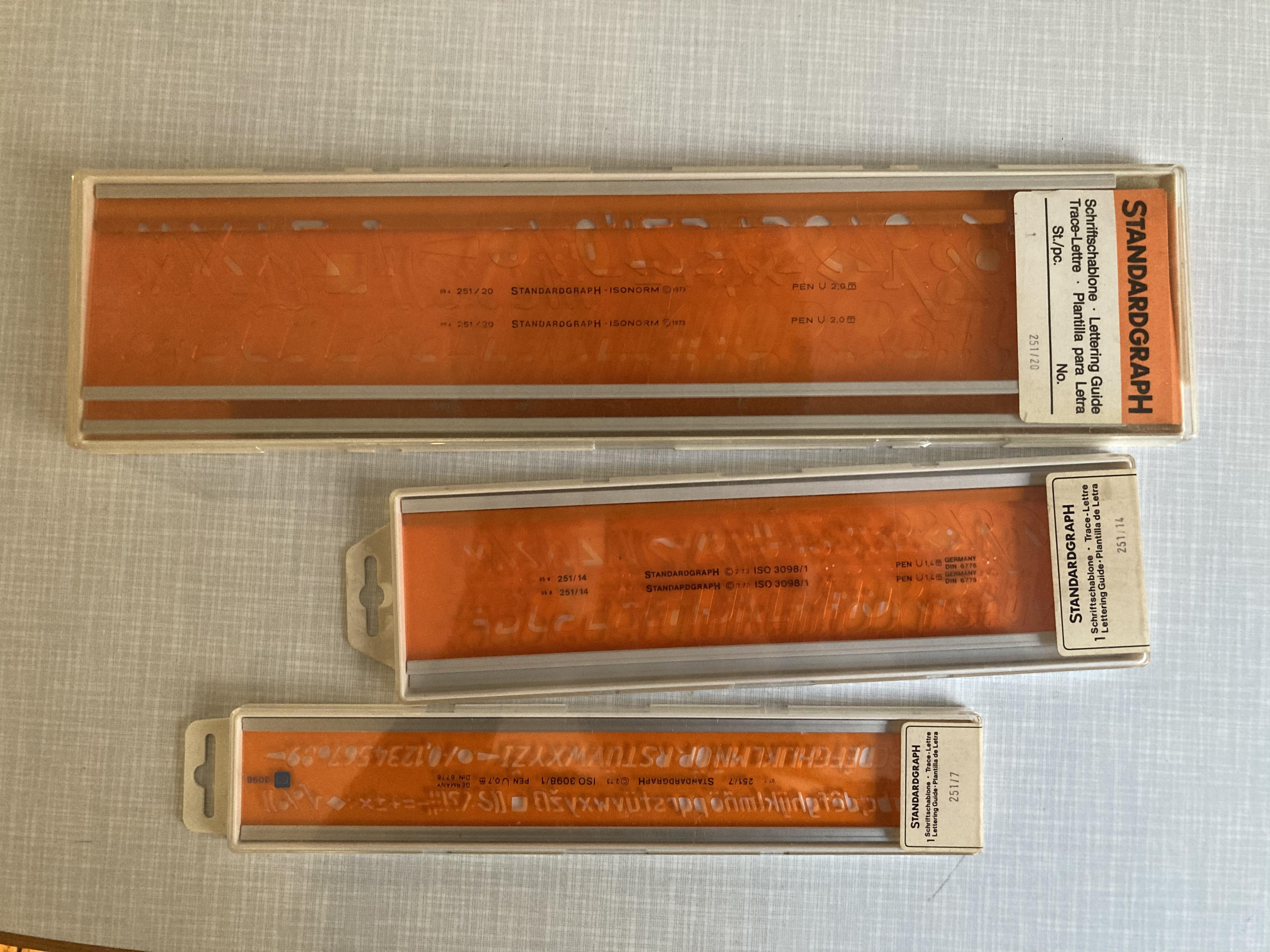 Standardgraph Zeichenschablonen  tauschen