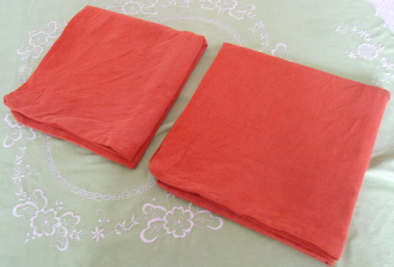 2 orange Baumwollkissenbezüge gebraucht kaufen