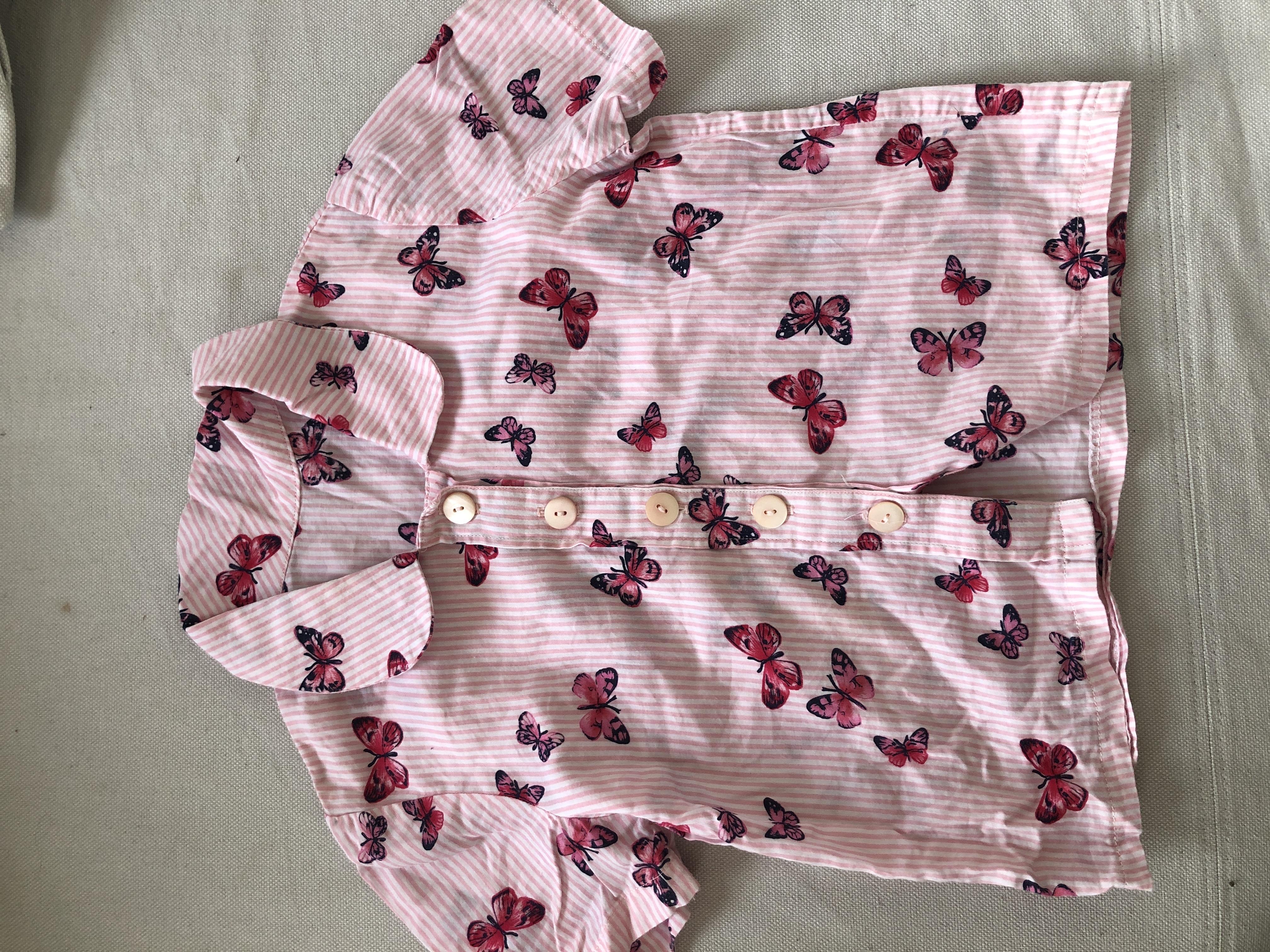 Bluse rosa Schmetterlinge 98 tauschen