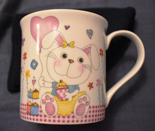 Tasse rosa Muffin-Hase tauschen