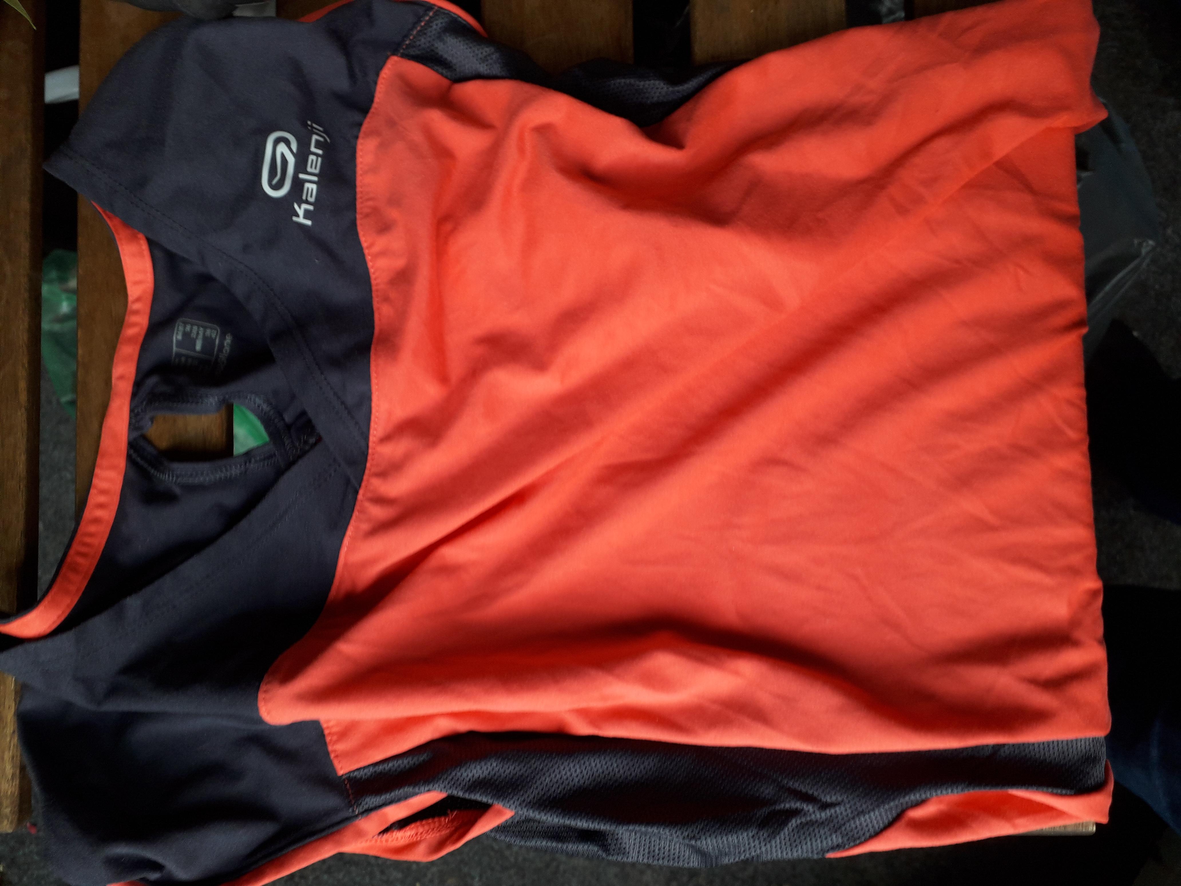 Sportshirt orangegrau S tauschen