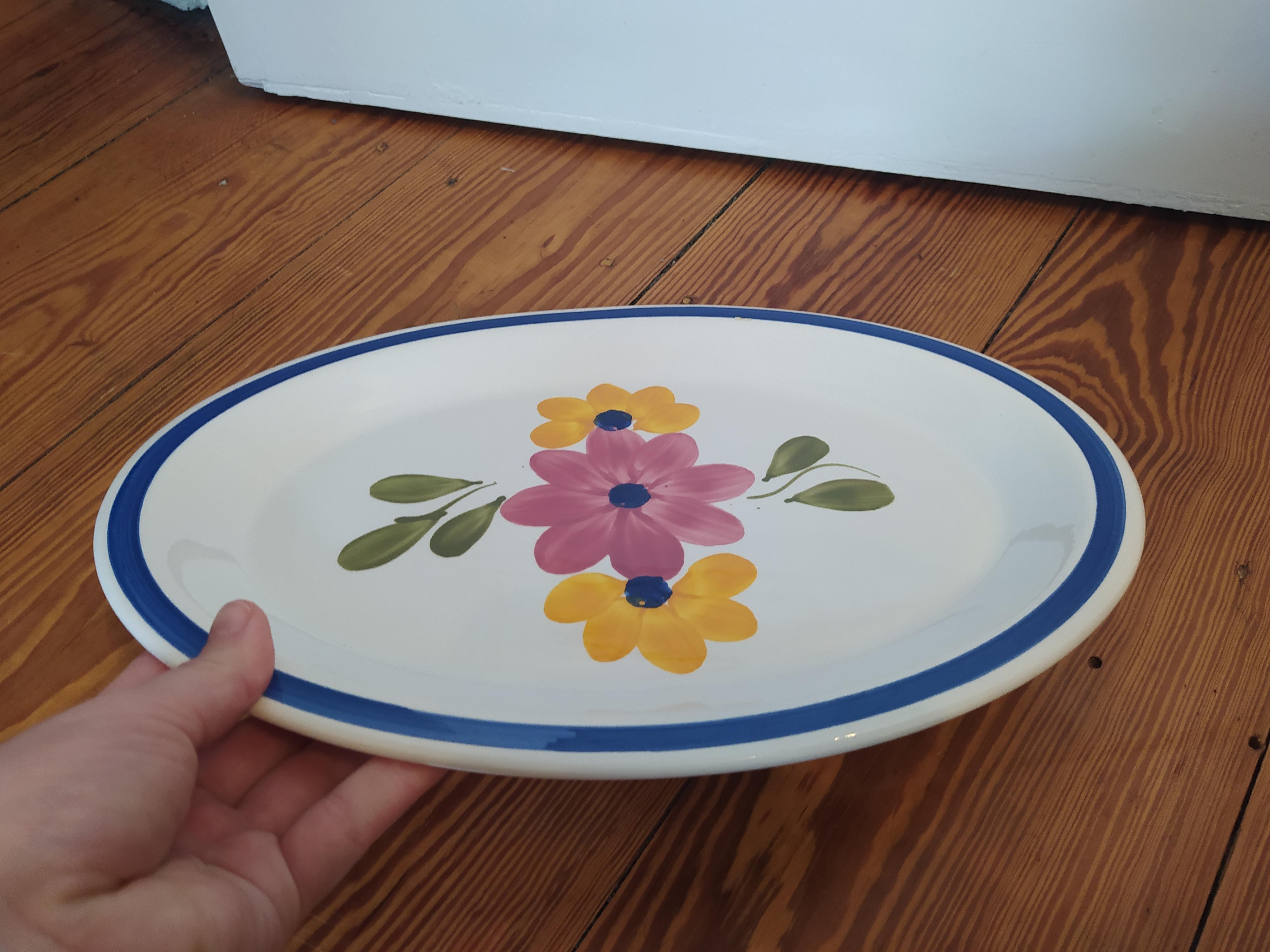 Keramik Kuchenteller Blume tauschen