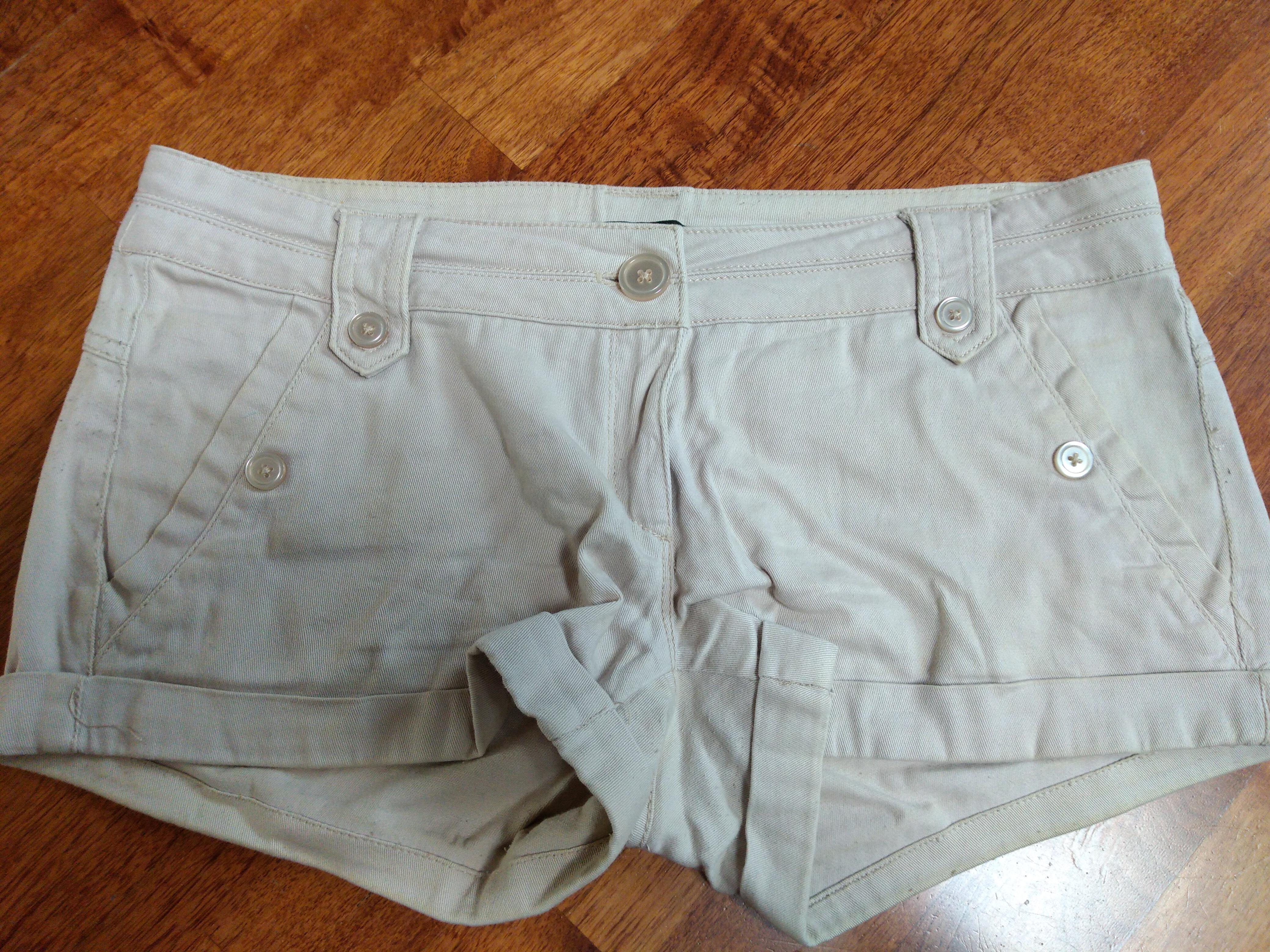 kurze Hose beige Shorts Gr M tauschen