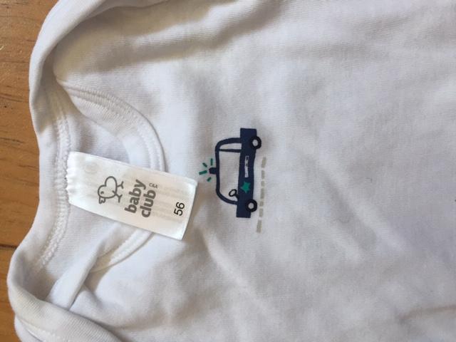 Weißer Langarmbody Gr.56 kostenlos