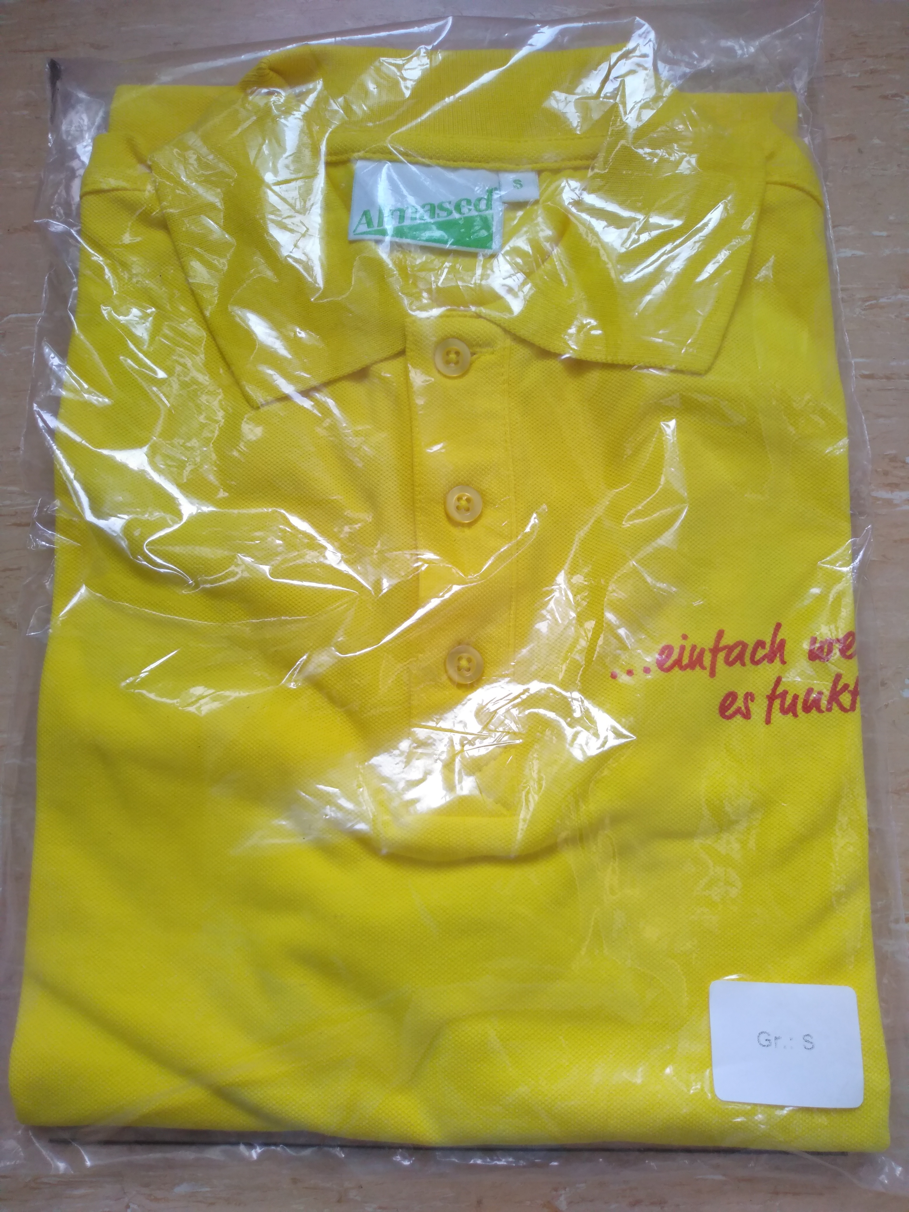"Polo-Shirt ""Almased"" Gr.S tauschen"