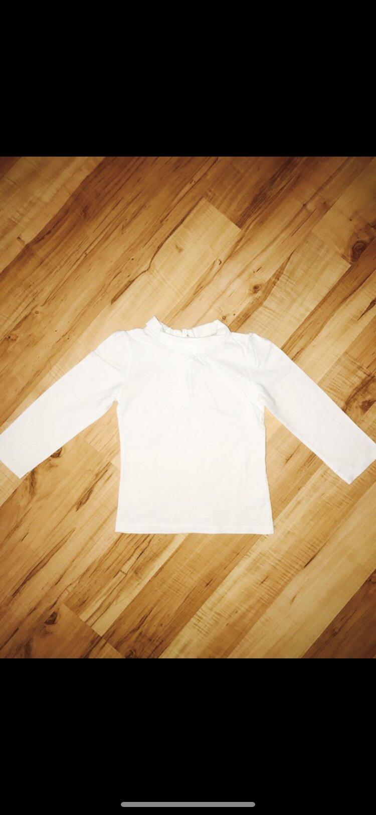 Langarmshirt in weiß Gr 92  tauschen