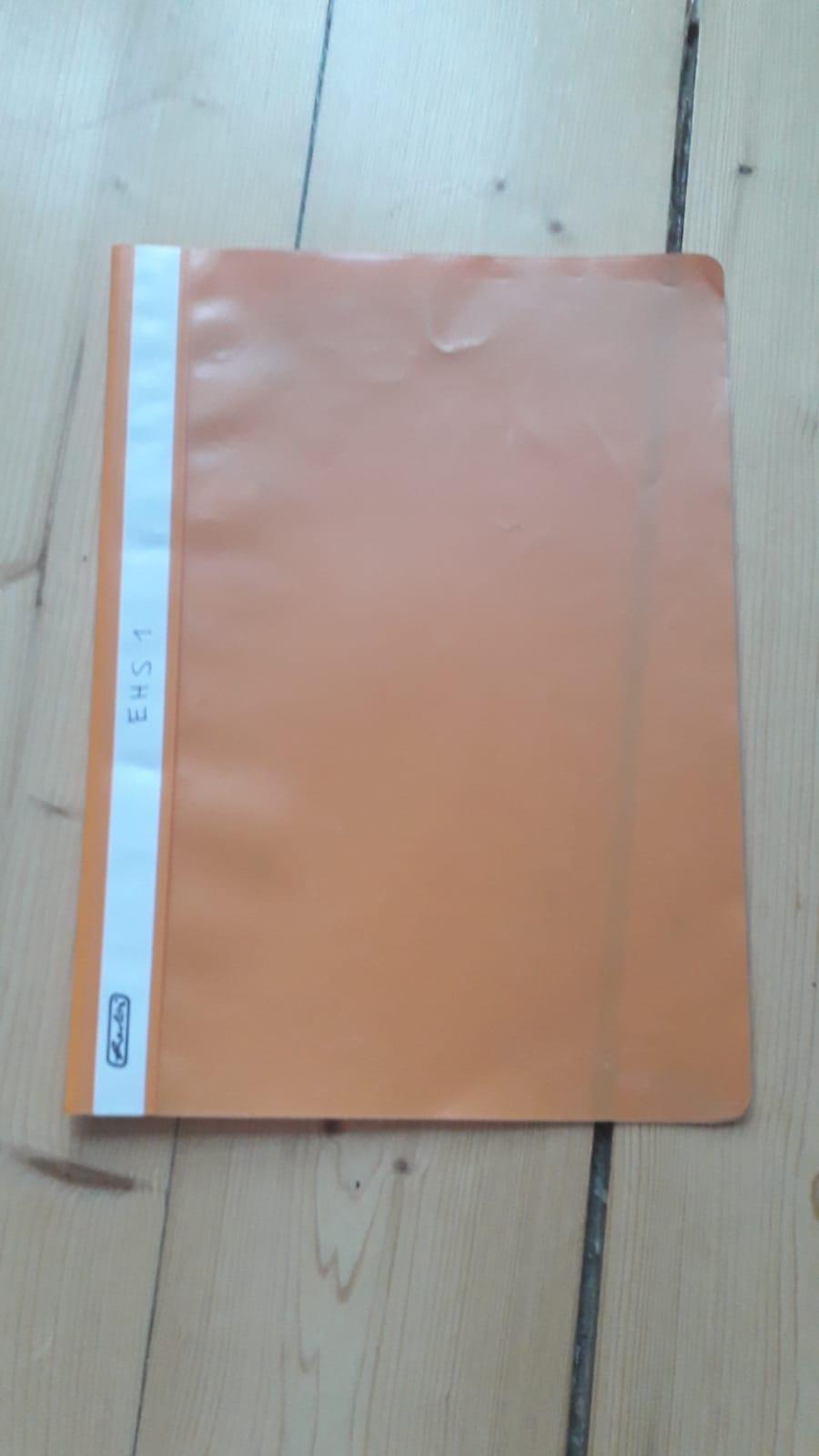 A4 Schnellhefter orange kostenlos