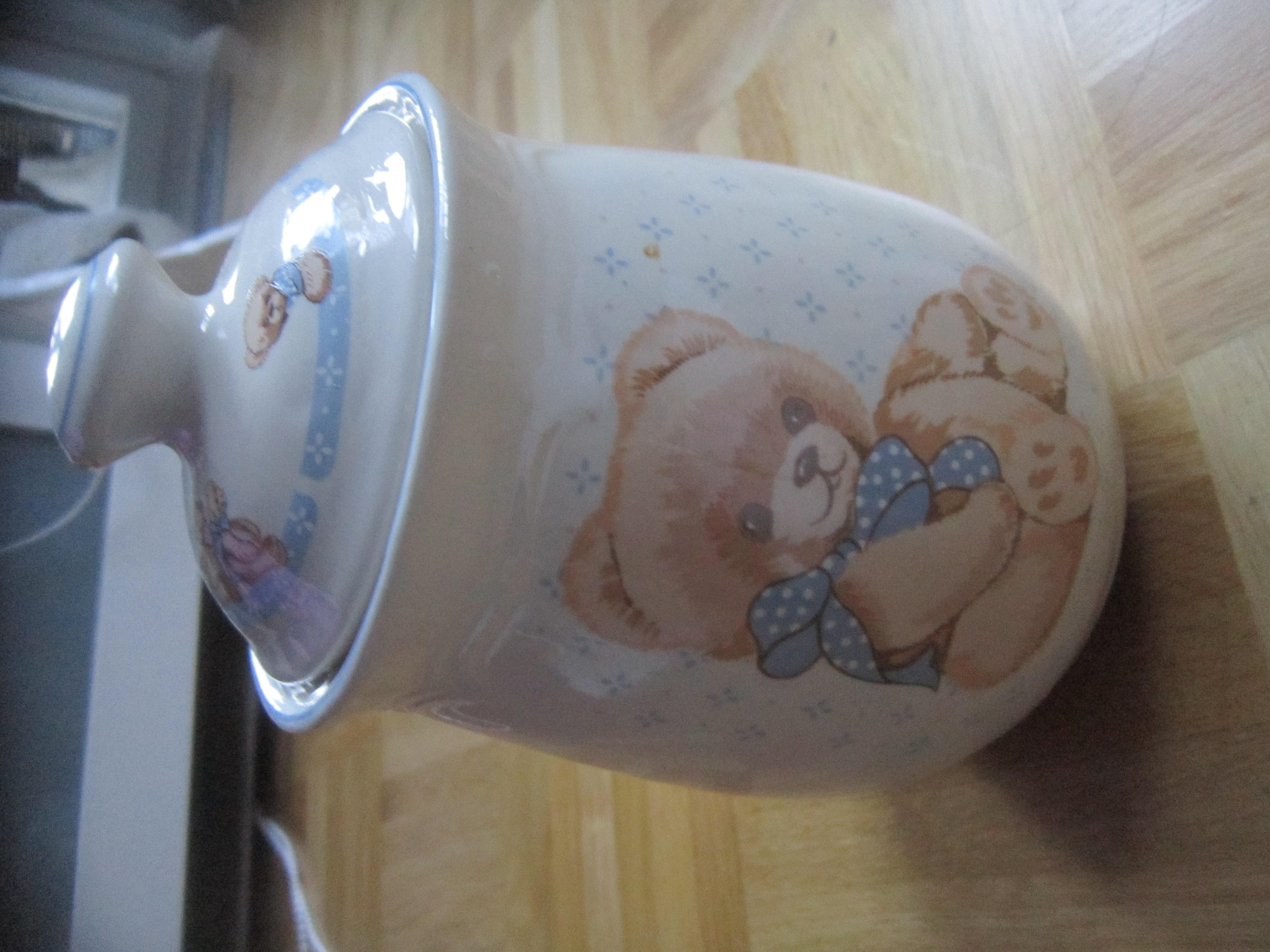 """Porzellan Dose+Deckel """"Teddy"""" tauschen"""
