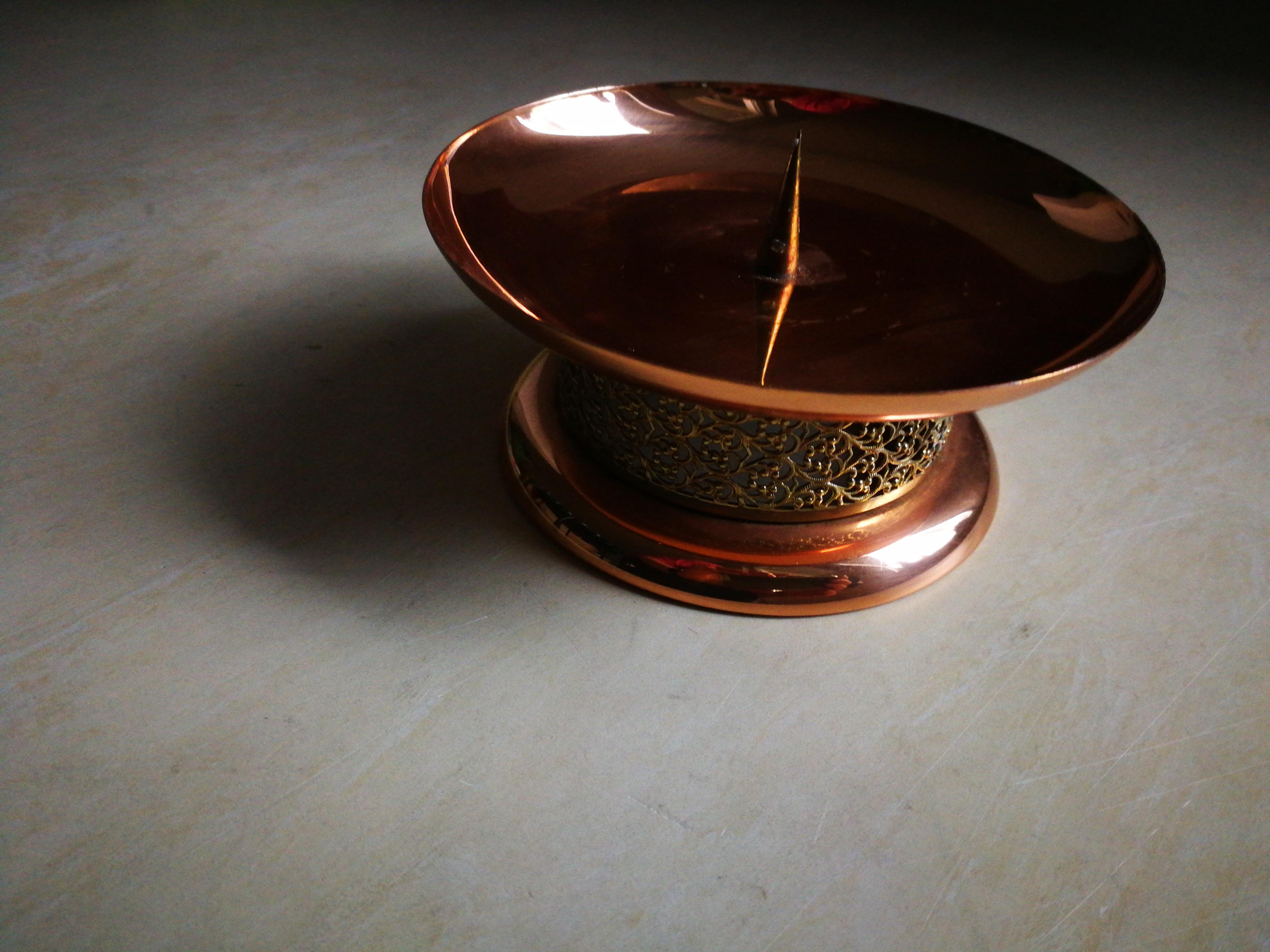 Kupfer Kerzenhalter  tauschen