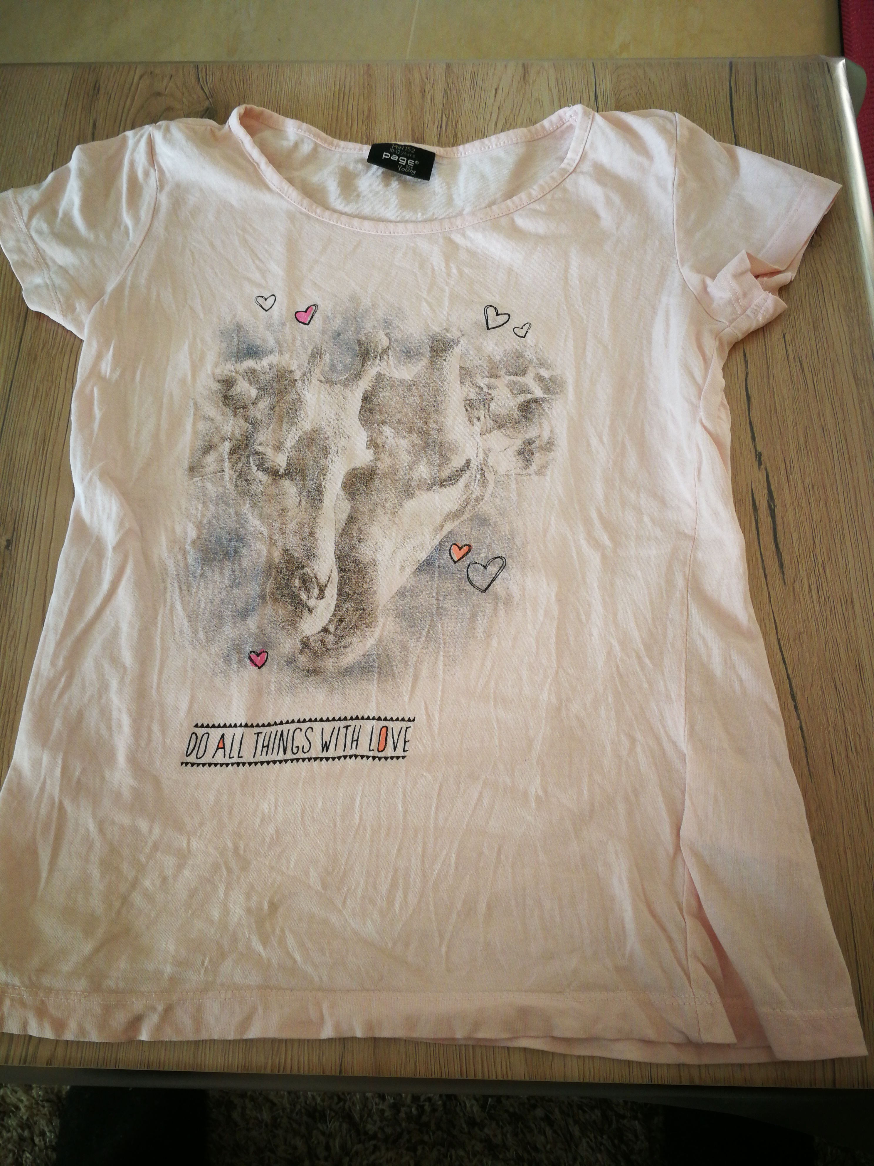 T Shirt Gr. 146/152 rosa tauschen