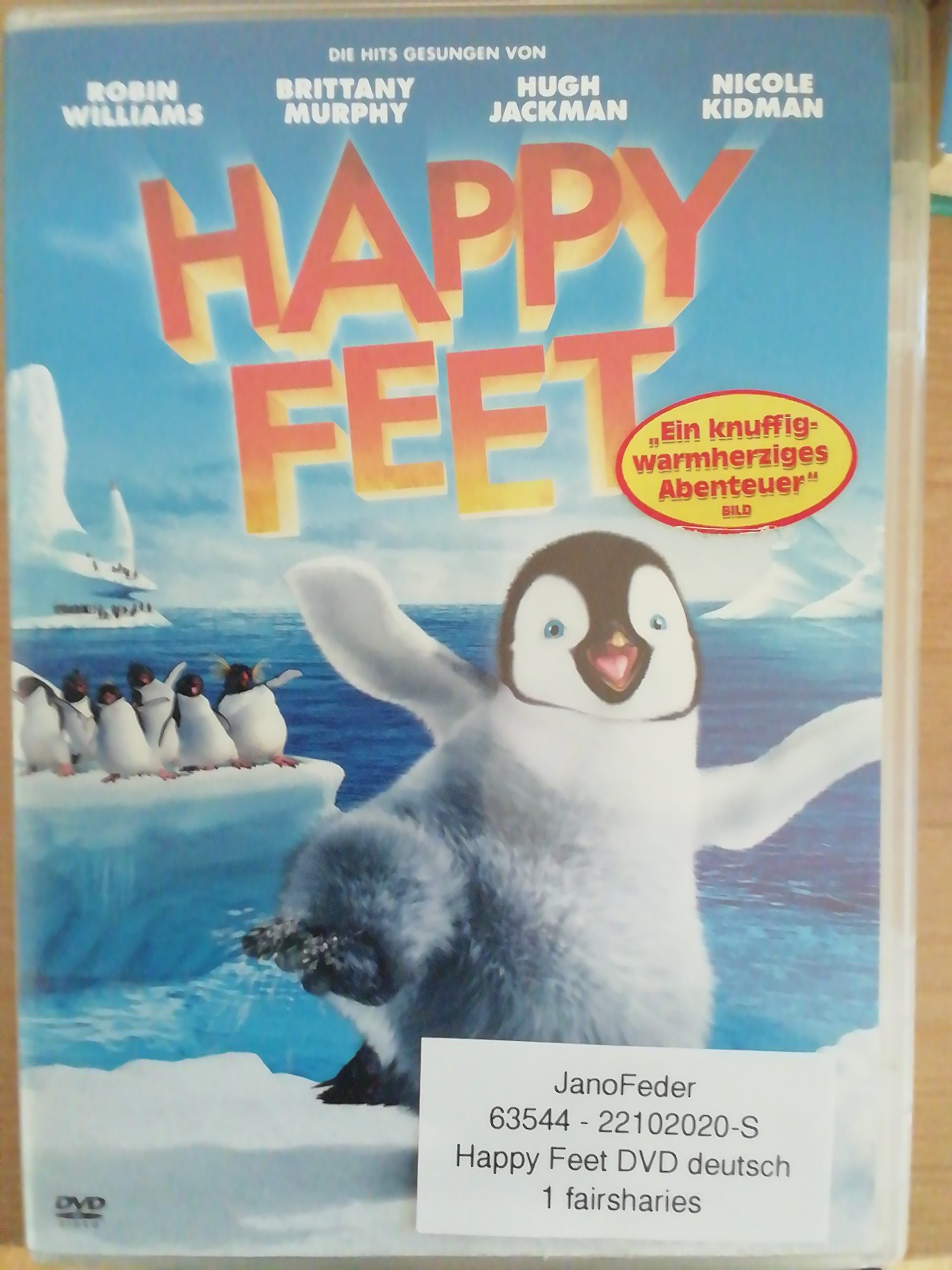 Happy Feet DVD deutsch tauschen