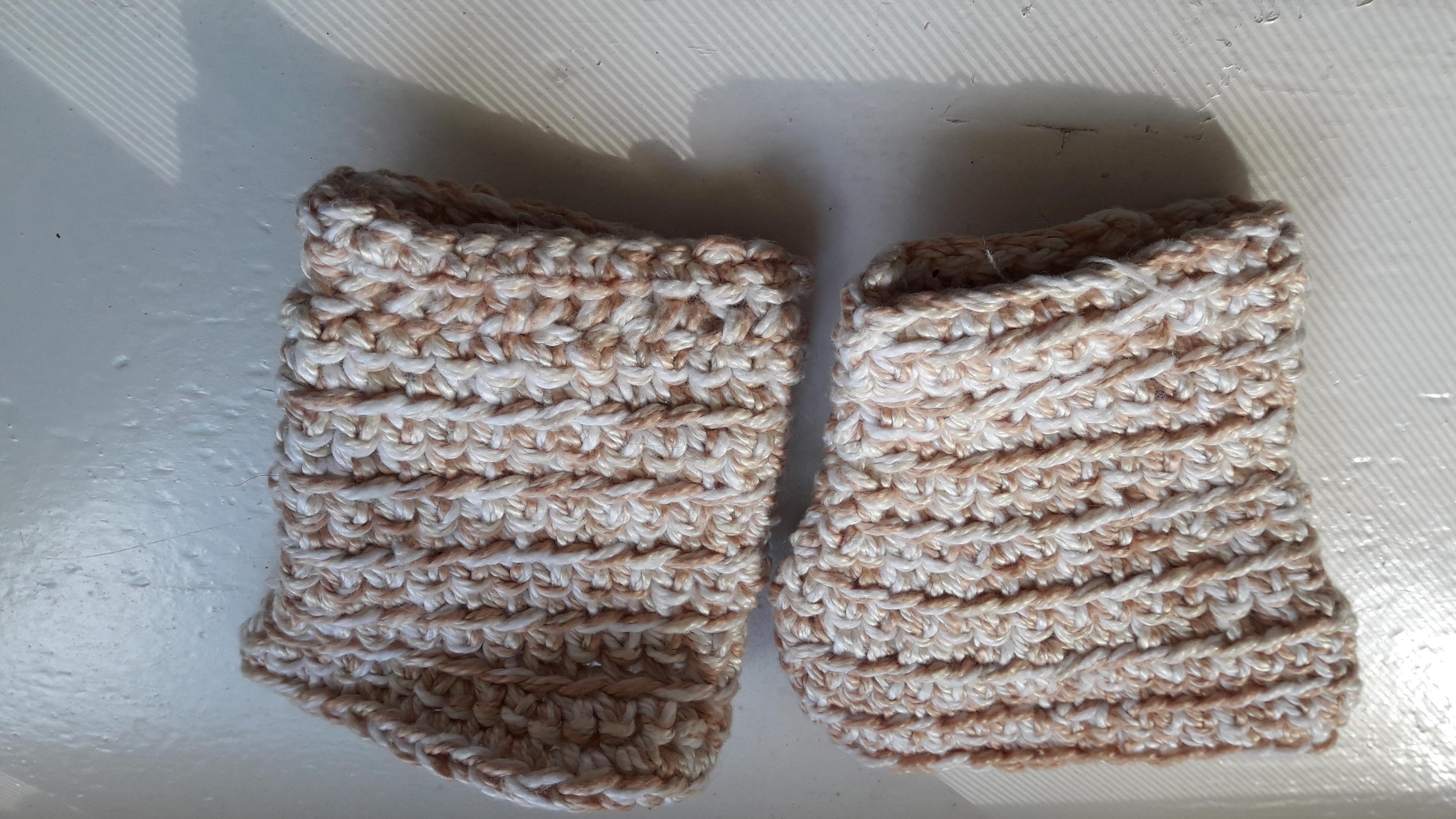 Stulpen weiß beige leicht glänze tauschen