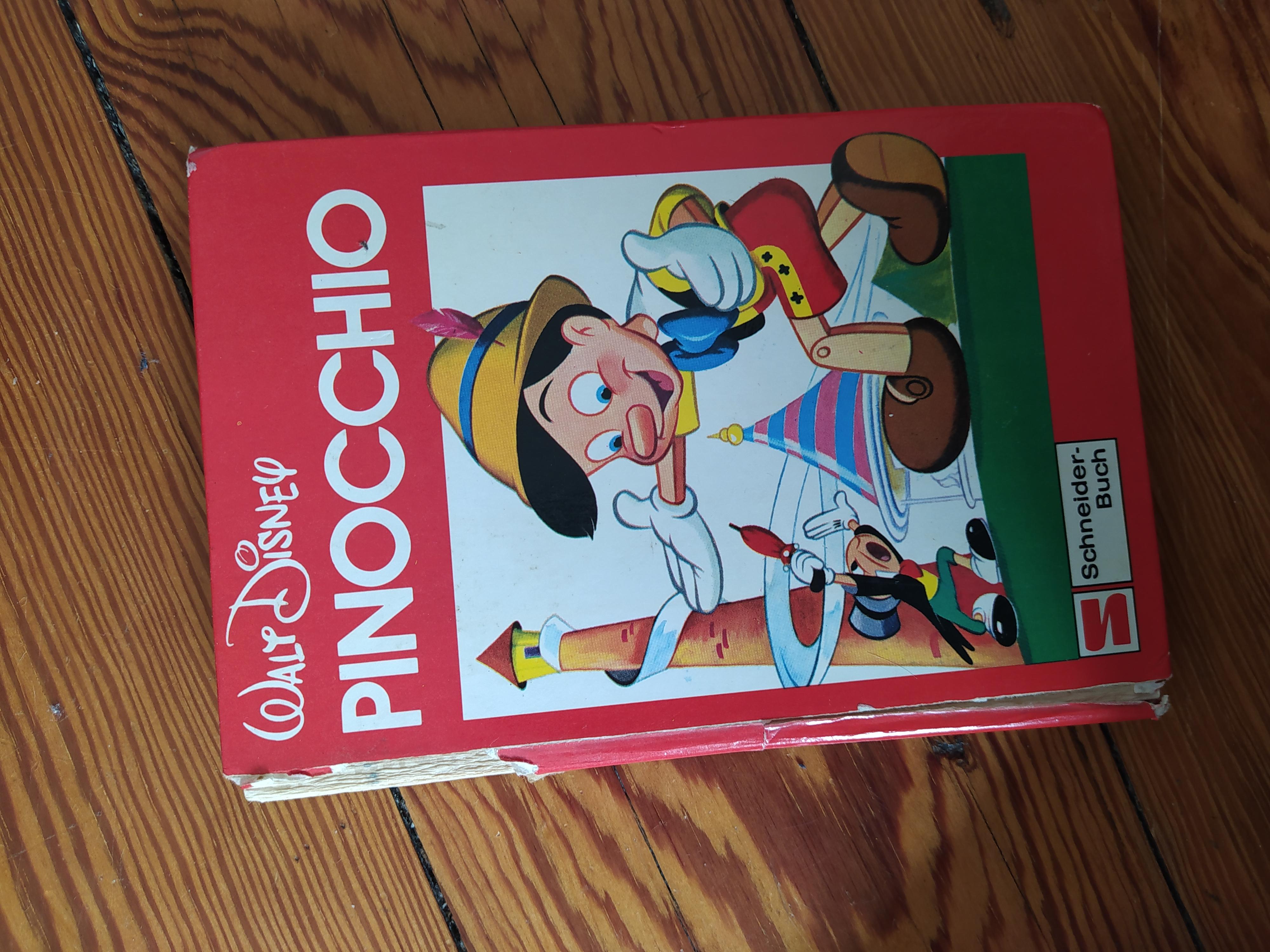 Pinocchio Buch alt tauschen