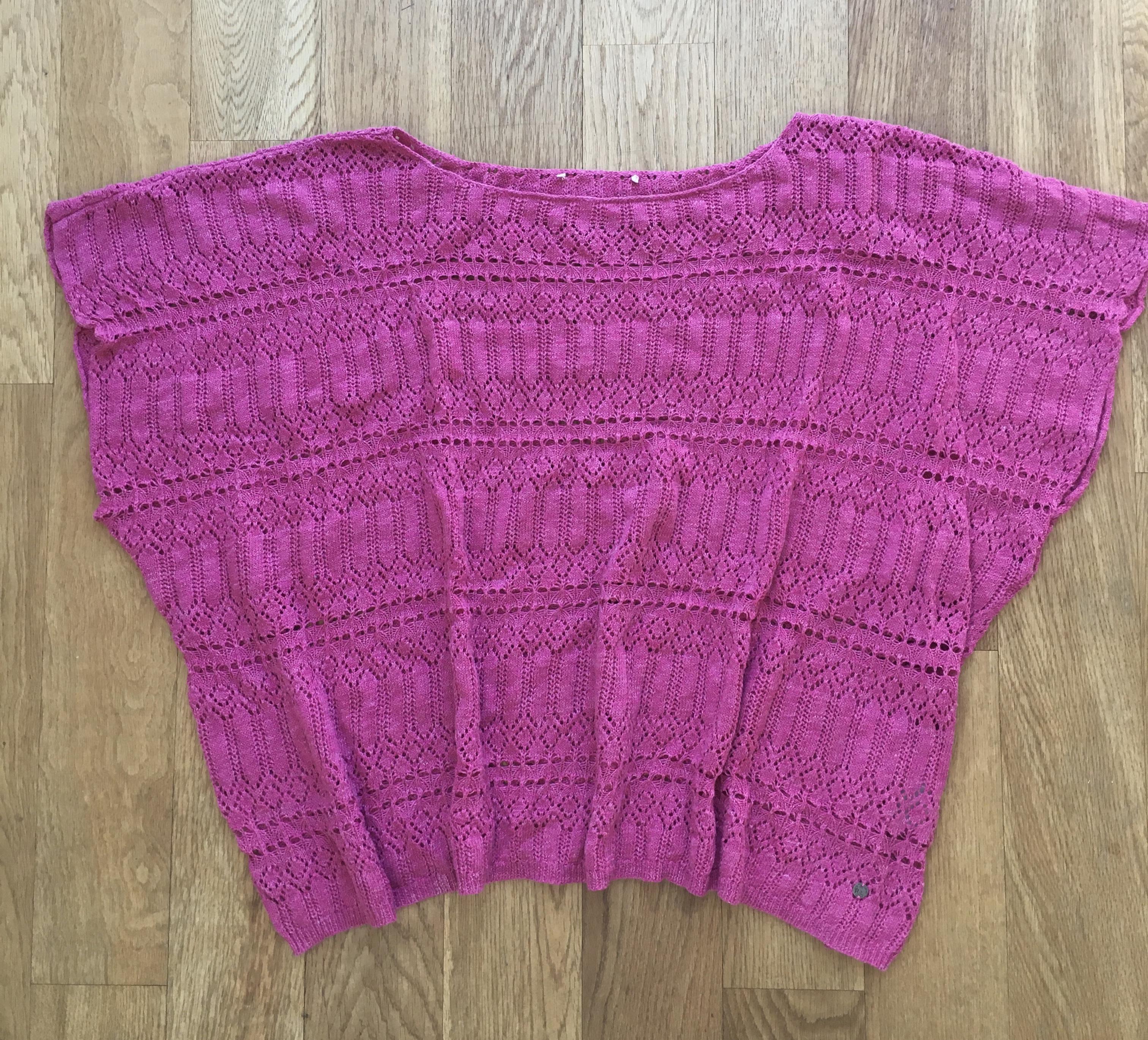 Leichter kurzärmliger Pullover  tauschen