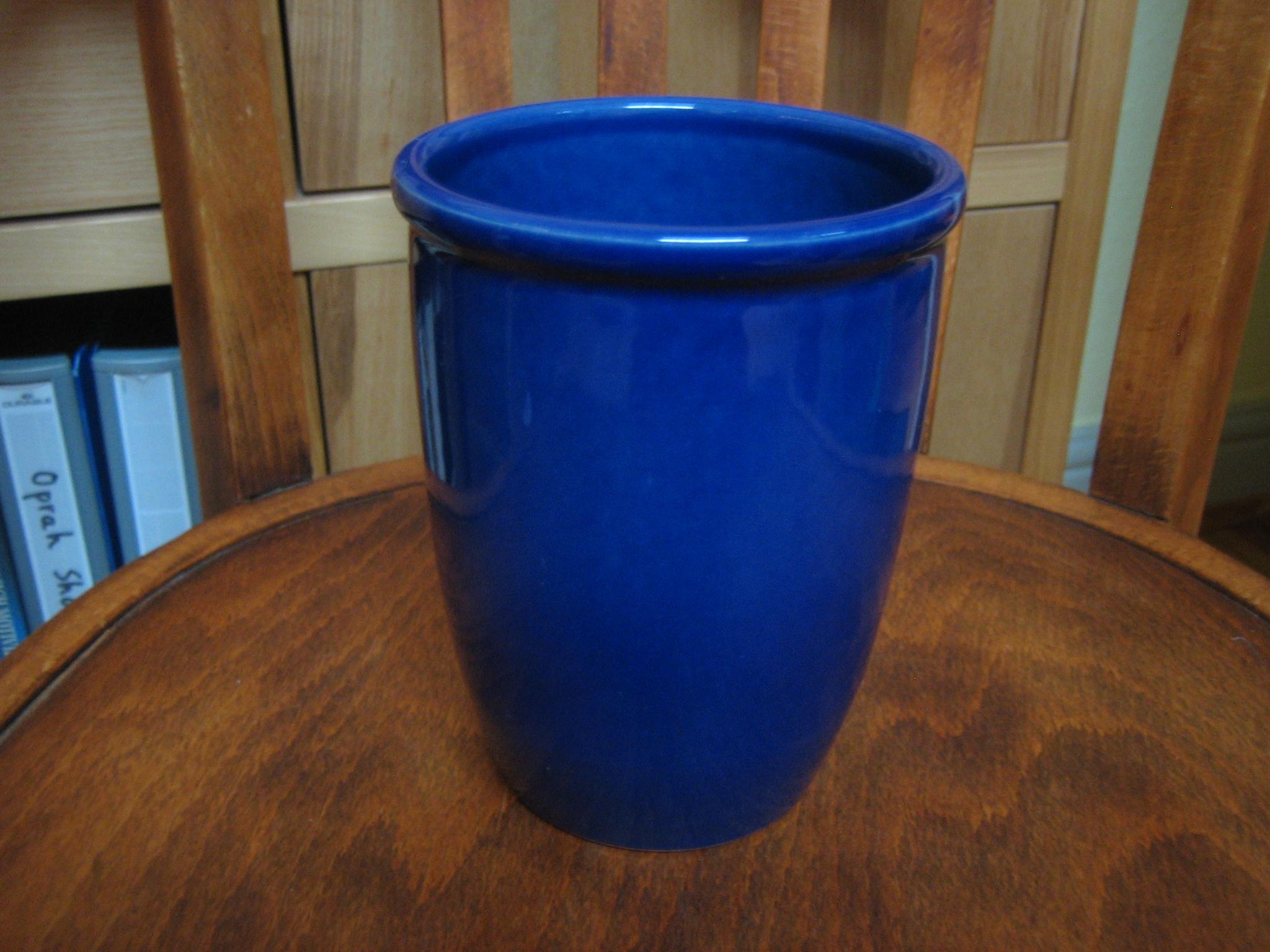 Übertopf / Vase blau tauschen