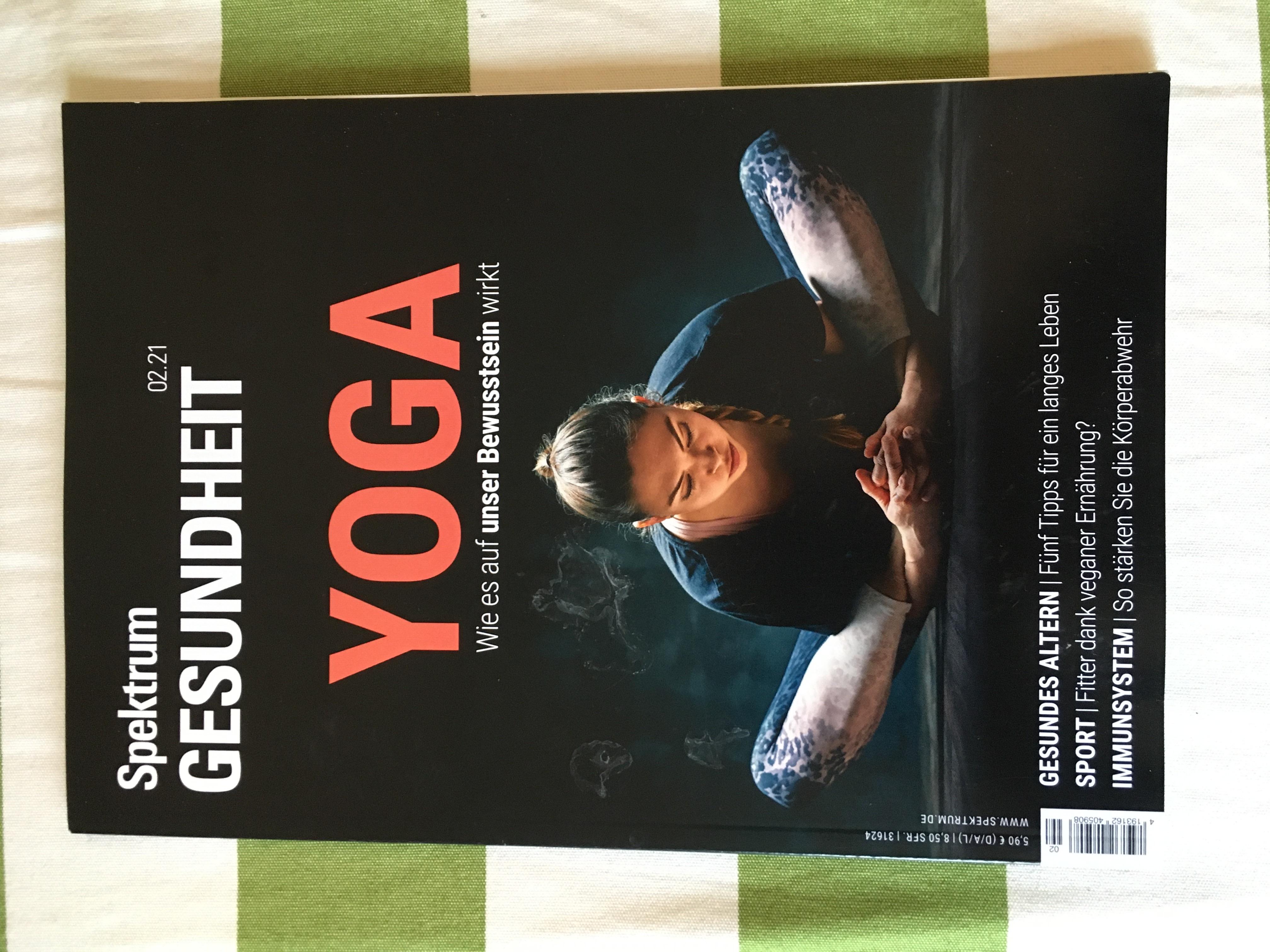 Spektrum Zeitschrift Yoga tauschen