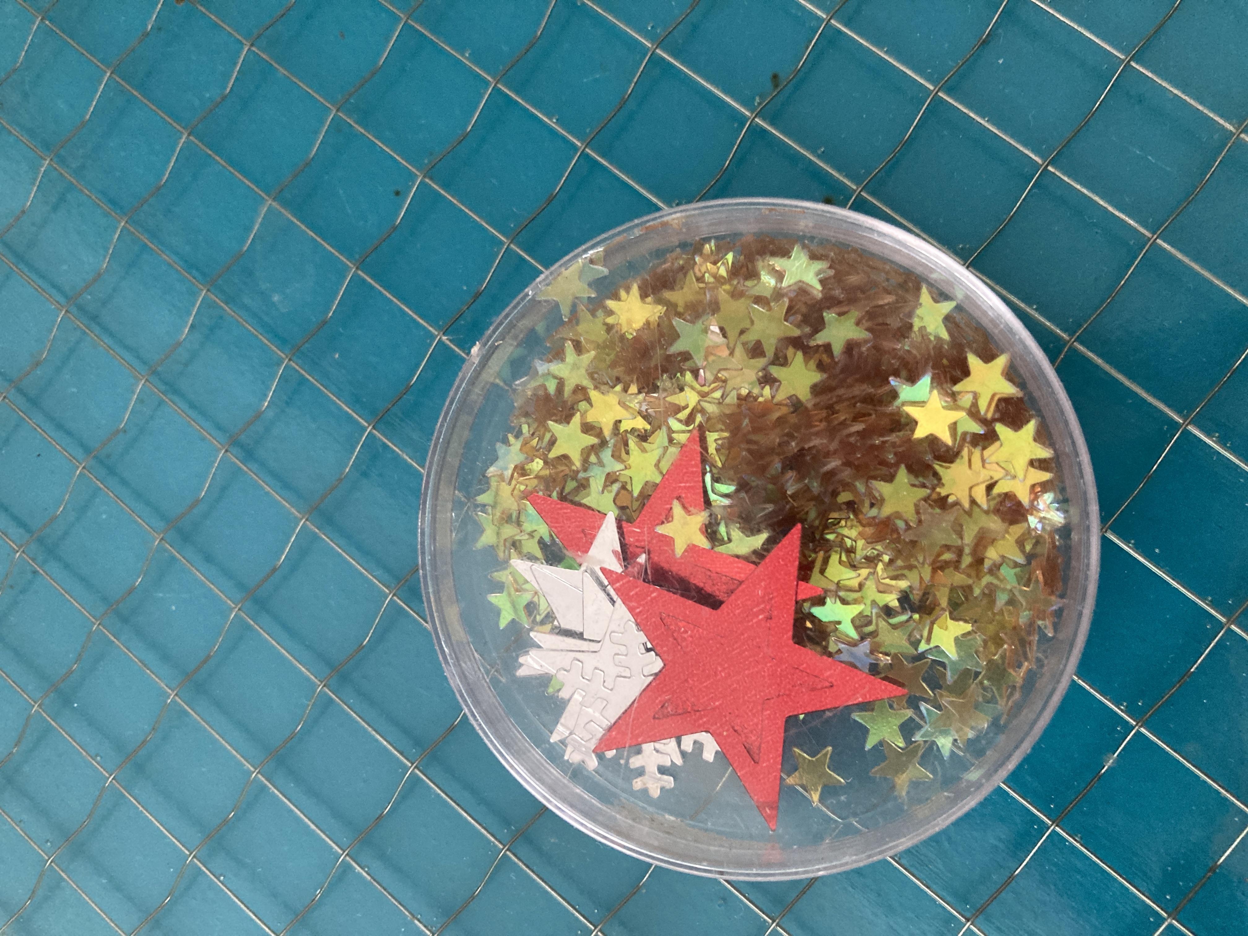 Sternkonfetti zum basteln  tauschen