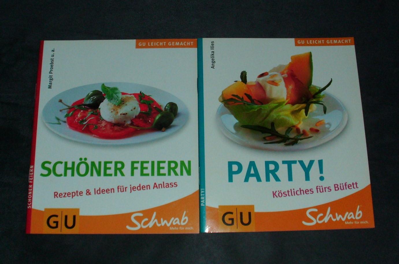 Kochhefte Party + Schönes Feiern tauschen