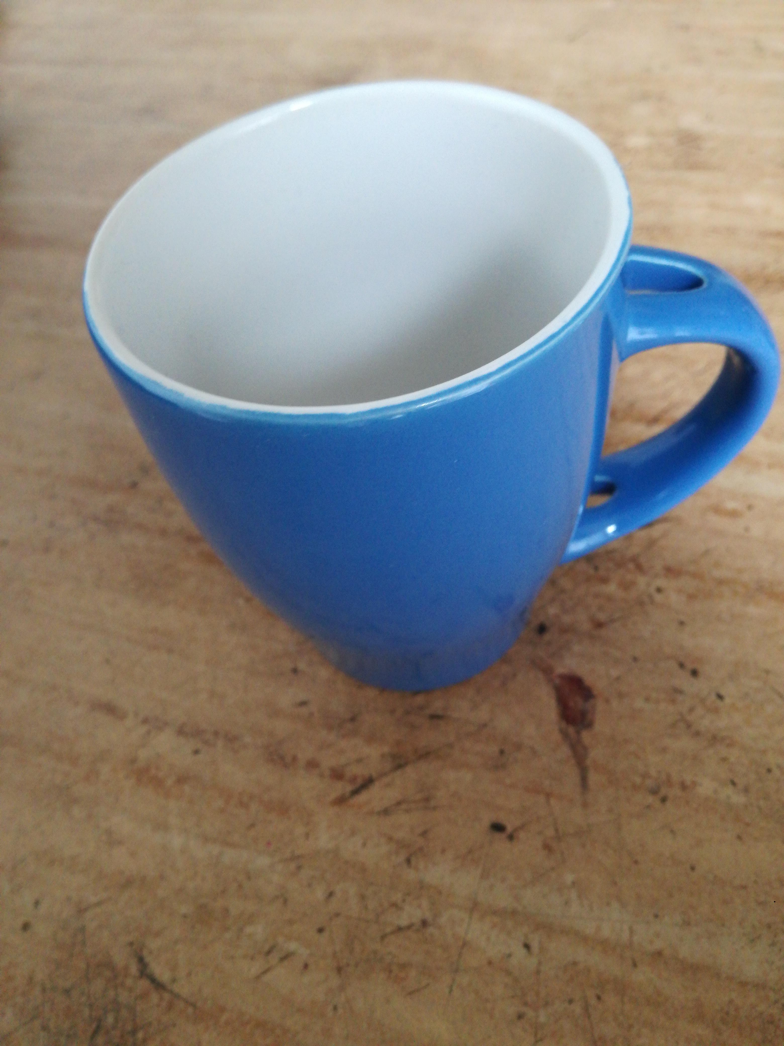 blaue Tasse tauschen