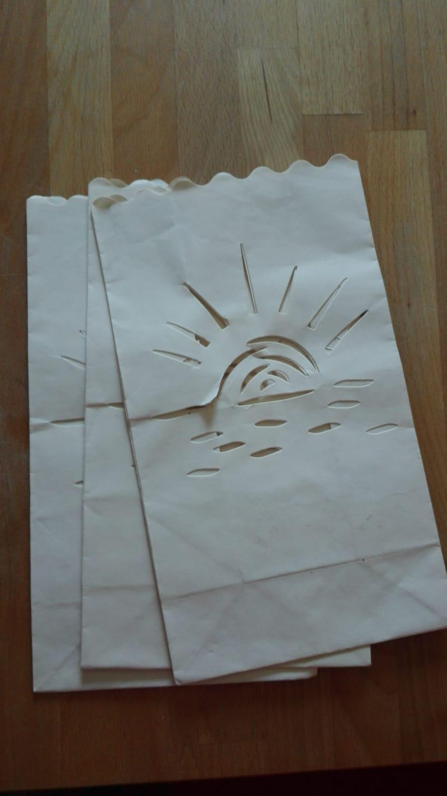 6er Set Papiertüten für Windlich tauschen