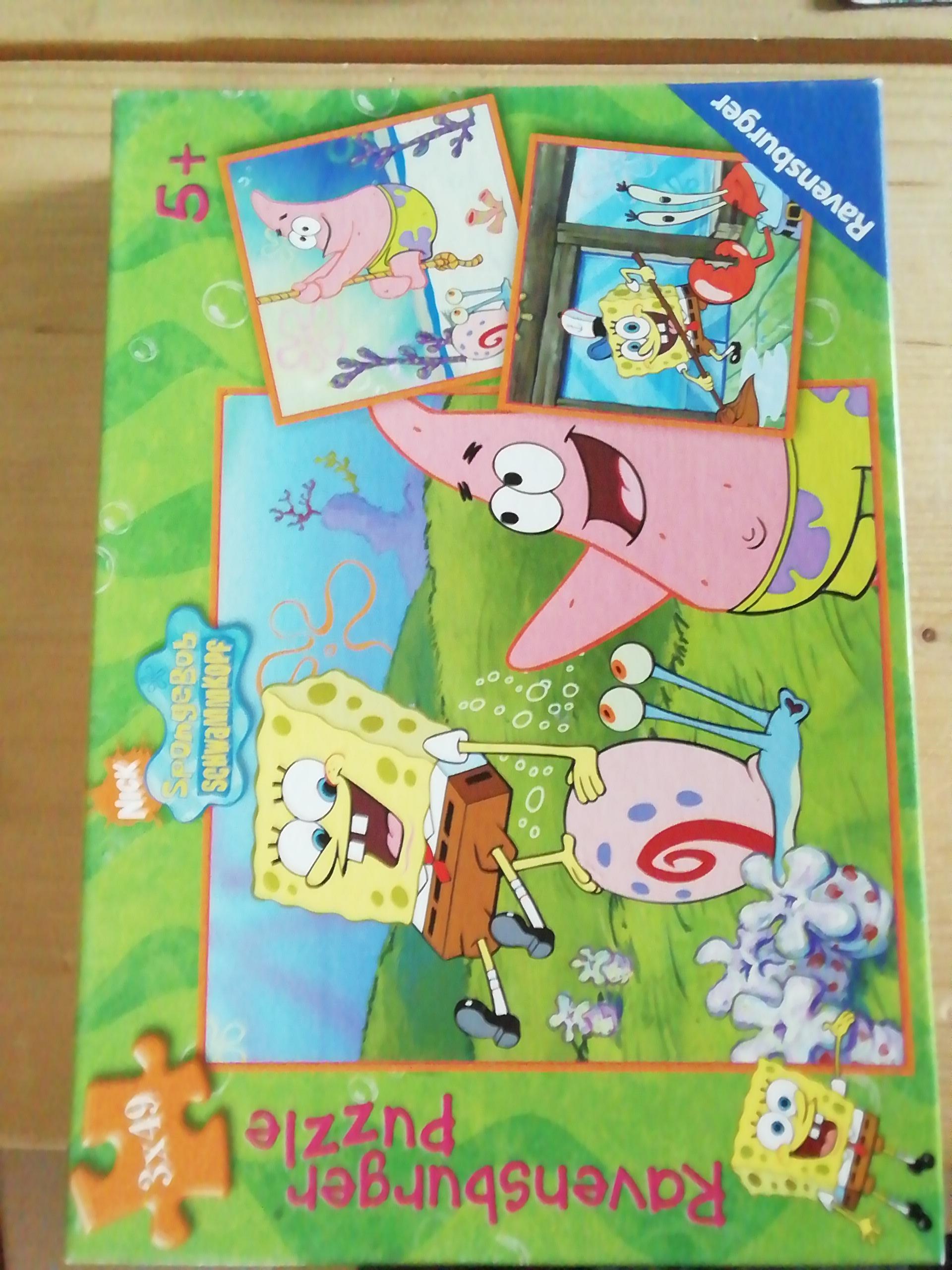 Puzzle Sponge Bob 3x49 Teile tauschen