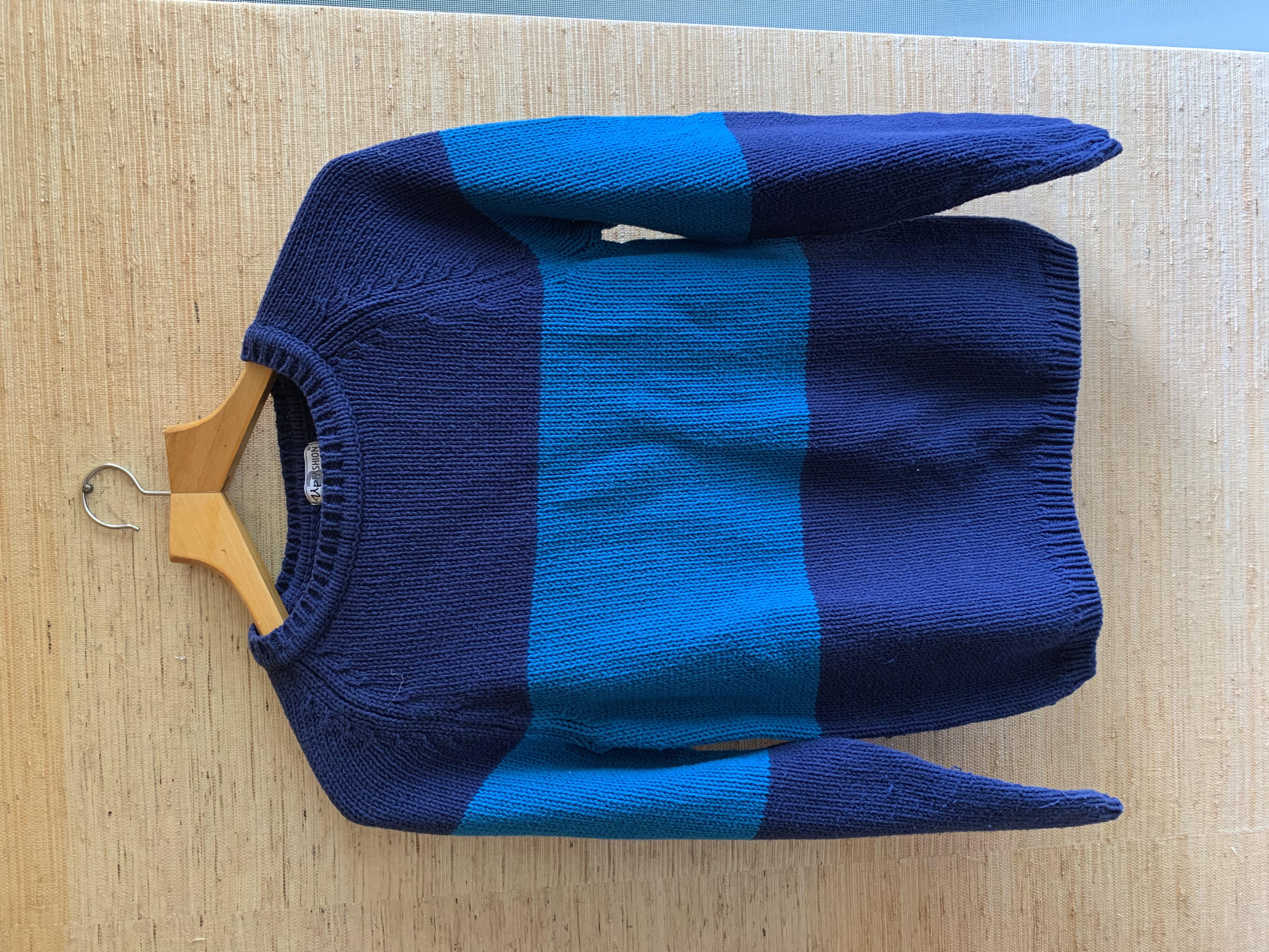 Strickpullover Baumwolle S blau tauschen