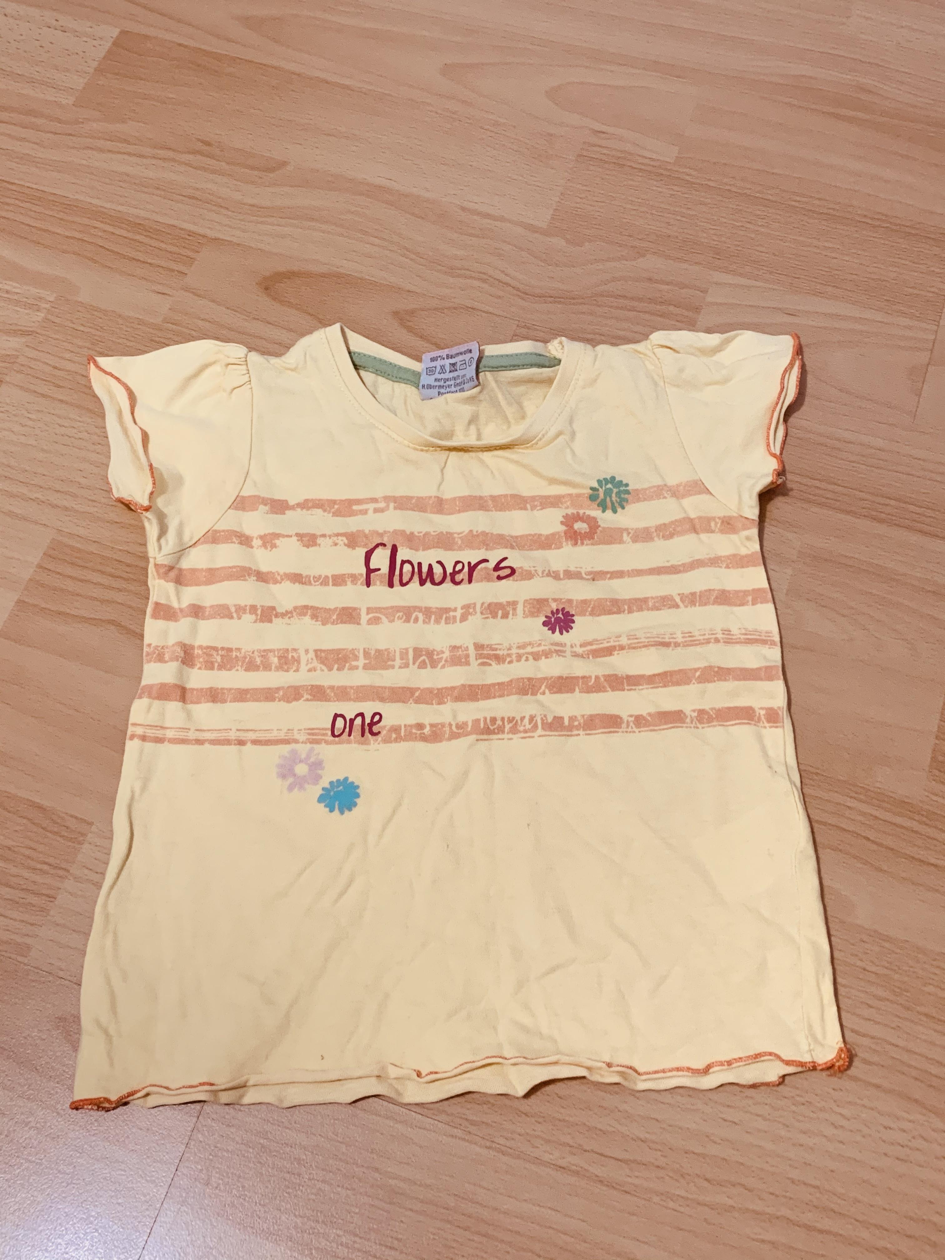 Gelbes Blumen Shirt für Mädchen  tauschen