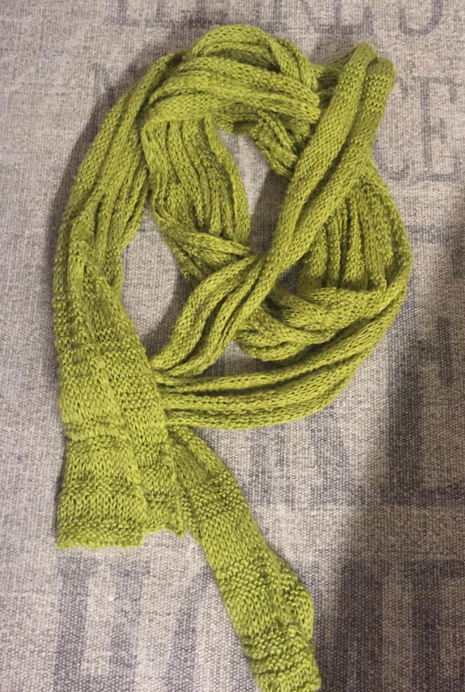 DIY Schal grün tauschen
