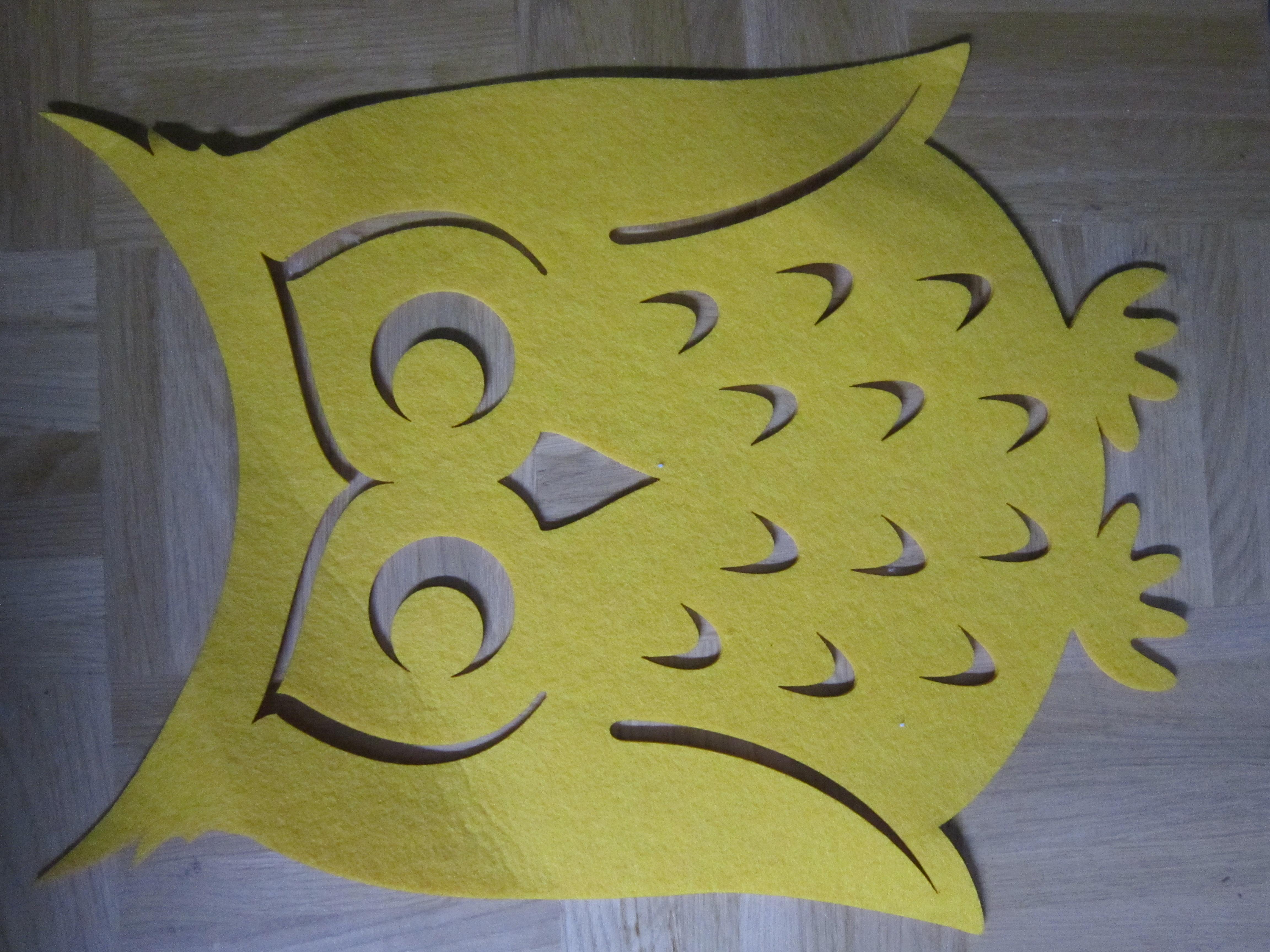 Filz Set Eule gelb tauschen