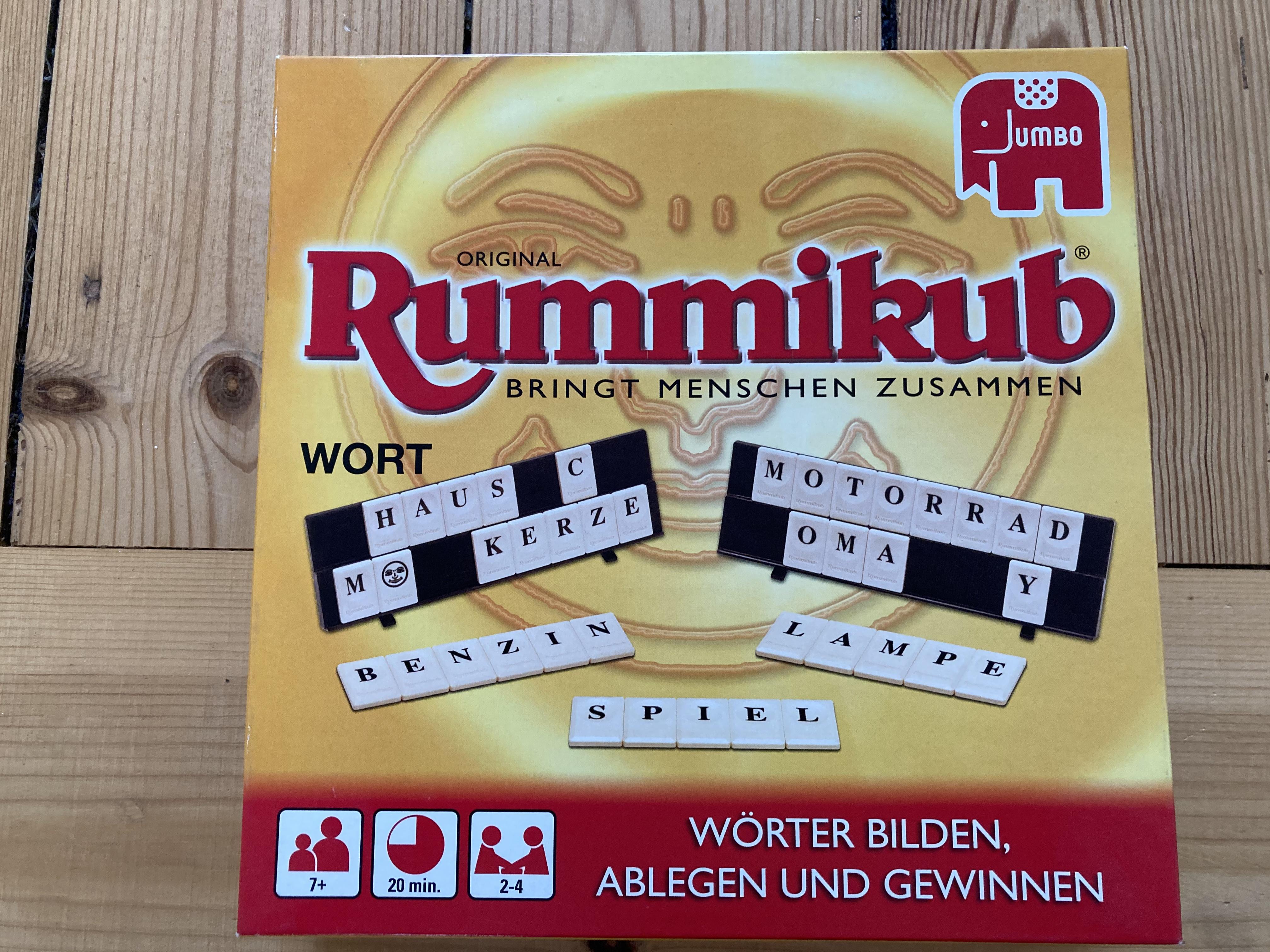 Spiel Rummikub mit Wörtern tauschen