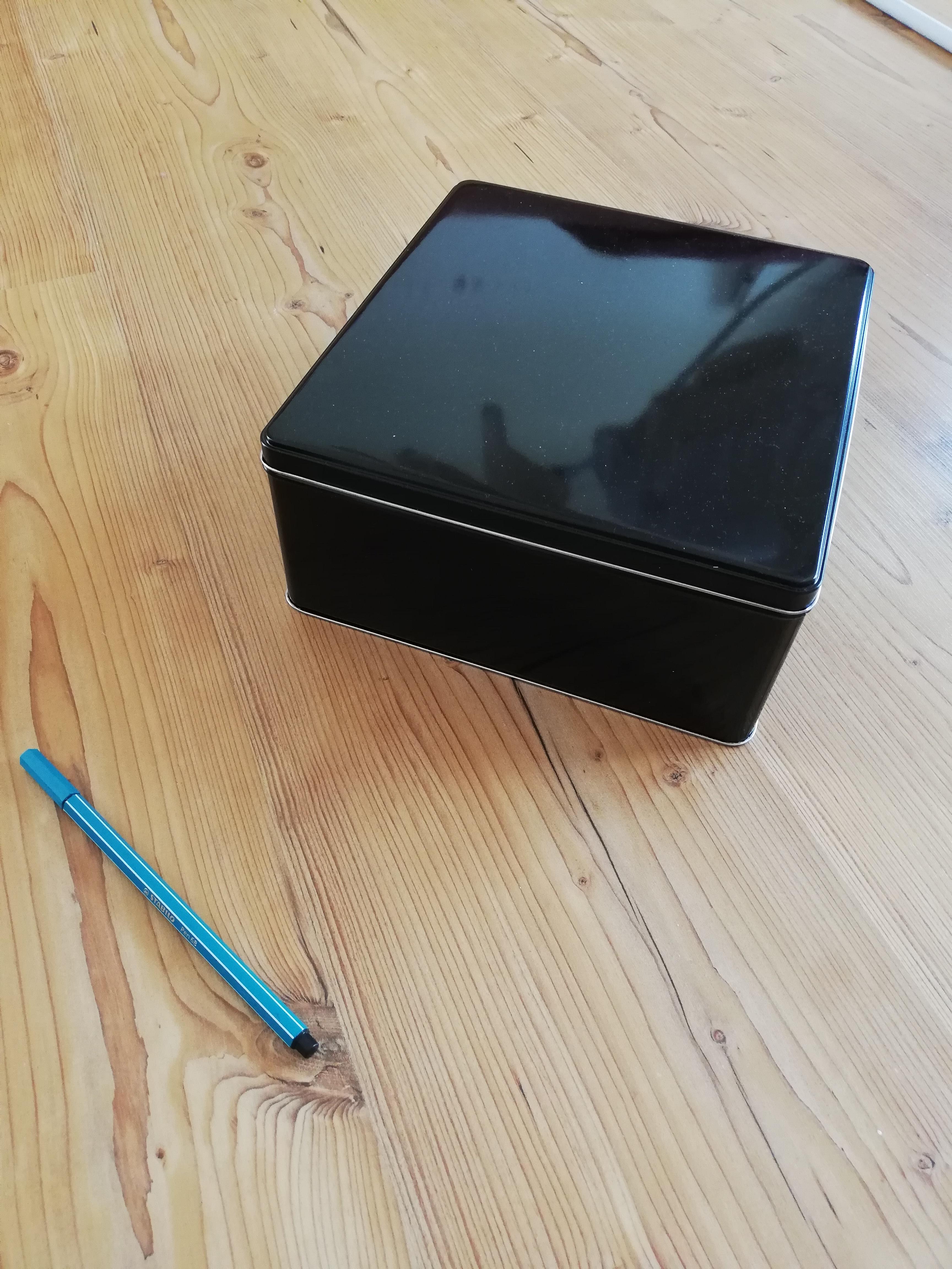 Keksdose/Box schwarz tauschen