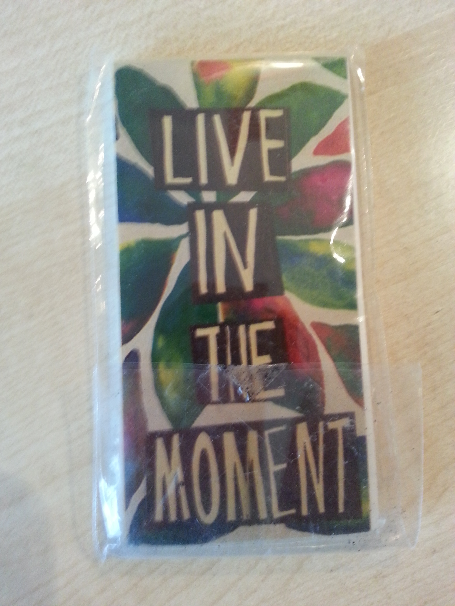"kleiner Block ""Live in the Moment"" kostenlos"