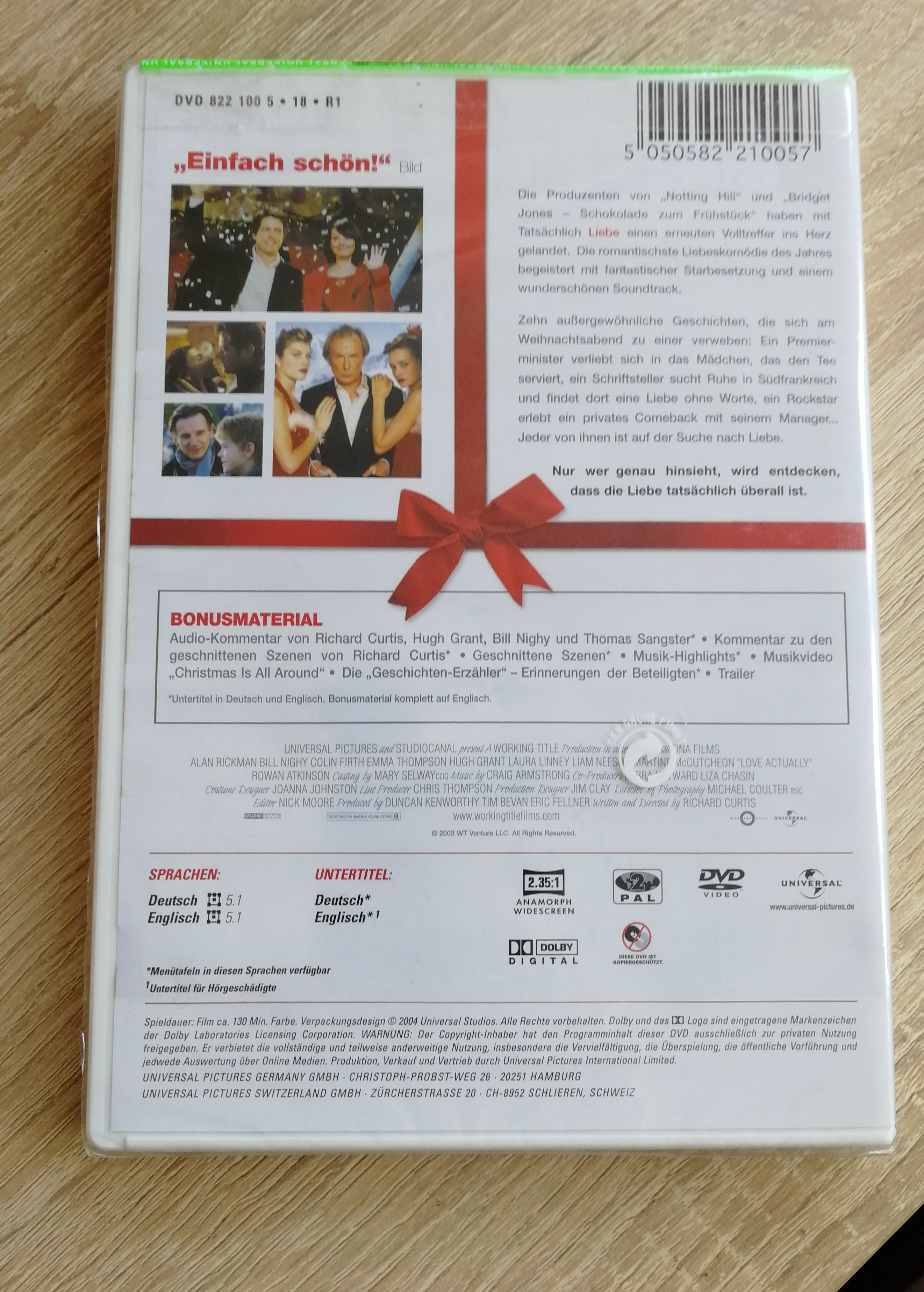 DVD Tatsächlich...Liebe NEU kostenlos