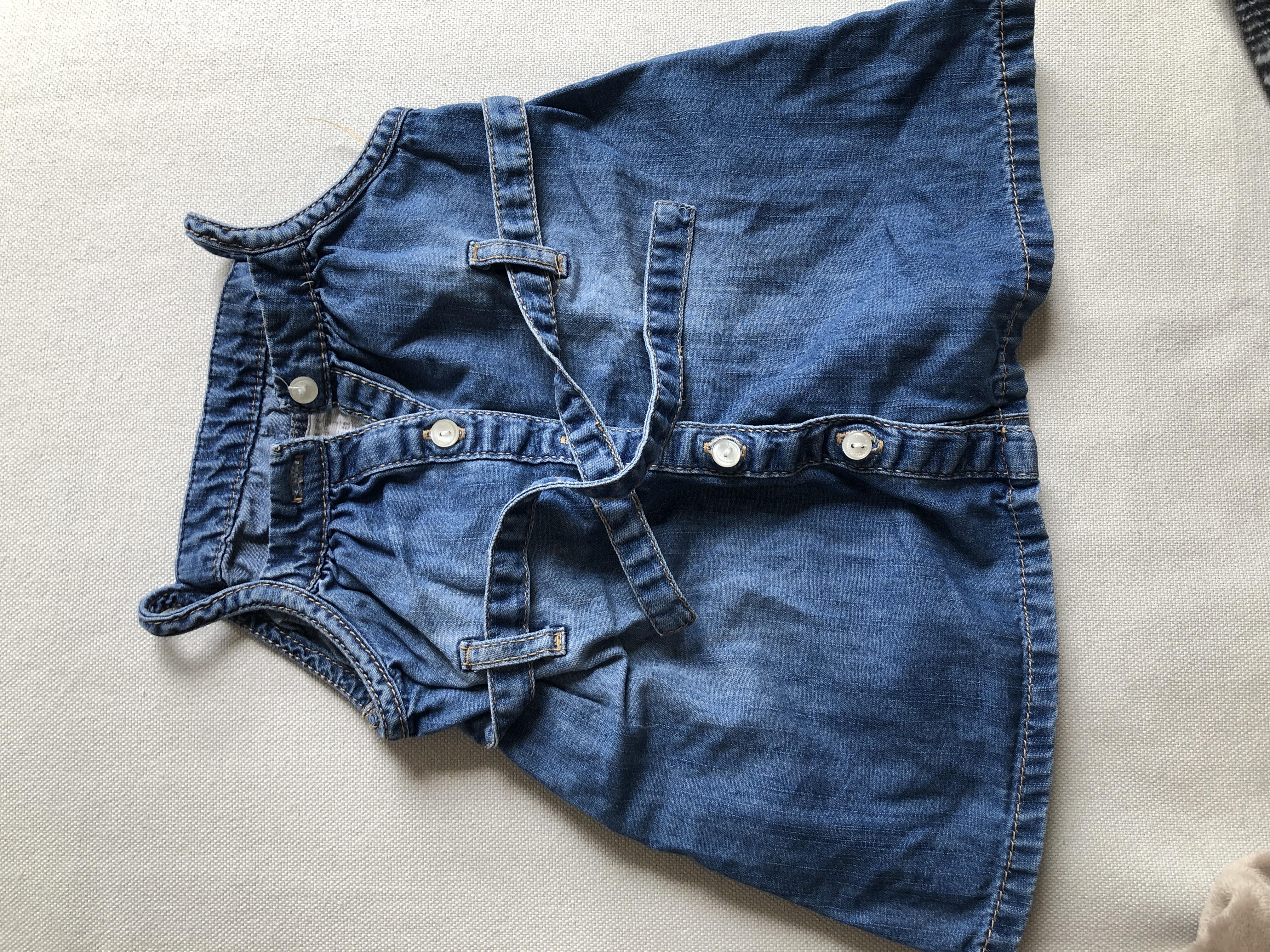 Süßes Jeanskleid 62 tauschen