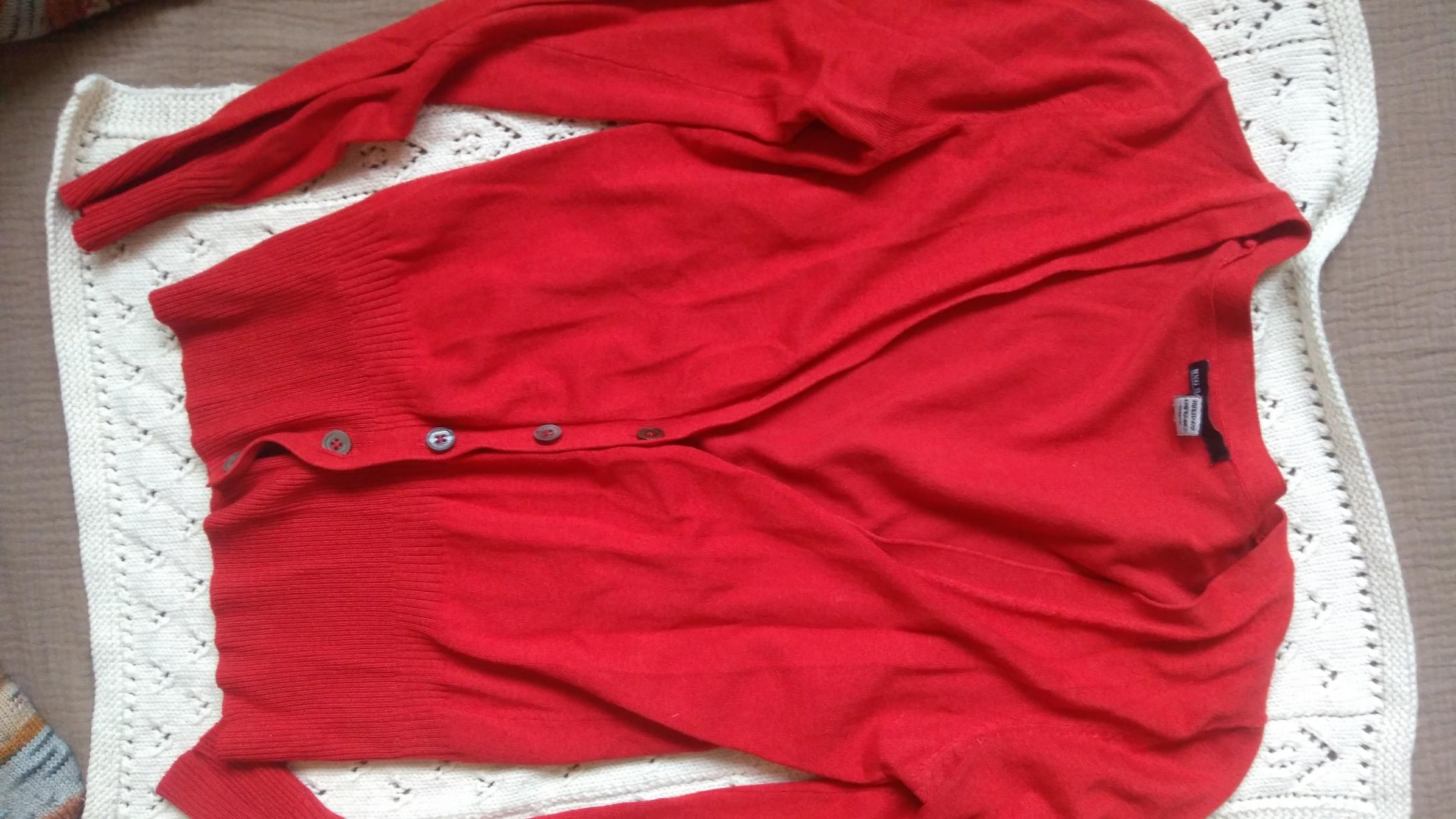 Mango Strickjacke M rot tauschen