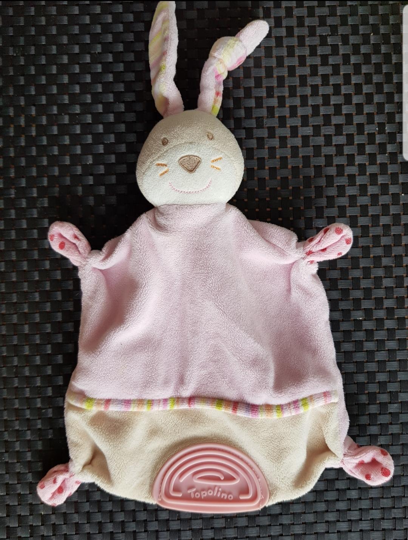 Schnuffeltuch Hase rosa neuw tauschen
