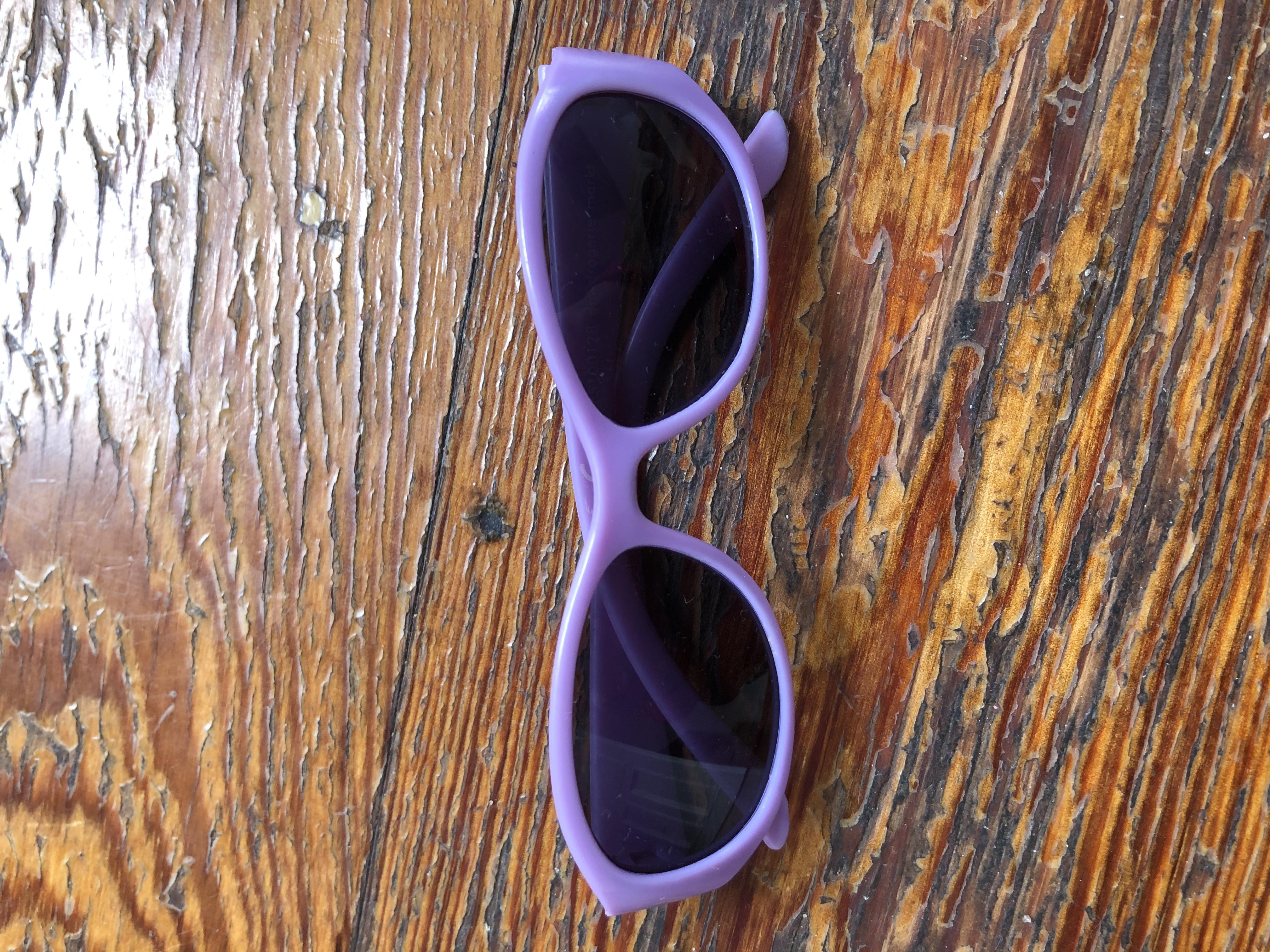 Sonnenbrille lila tauschen